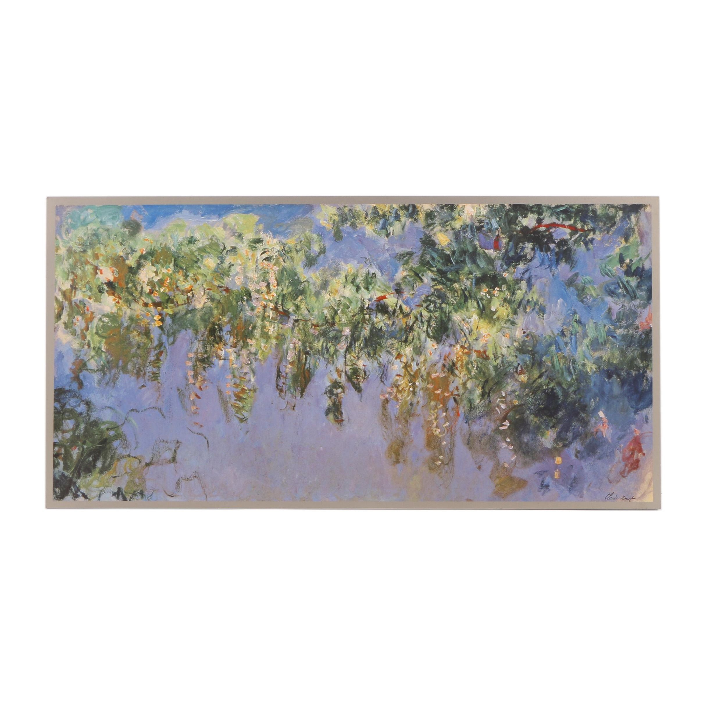 "Offset Lithograph After Claude Monet ""Wisteria"""