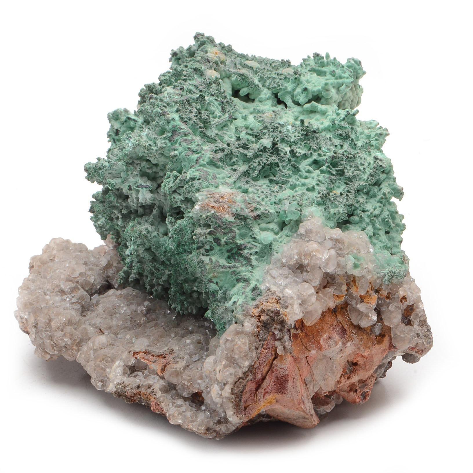 Malachite with Calcite Specimen