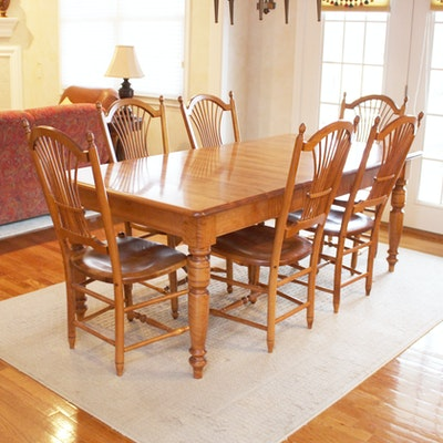 Heywood Wakefield Butterfly Drop Leaf Dining Table And