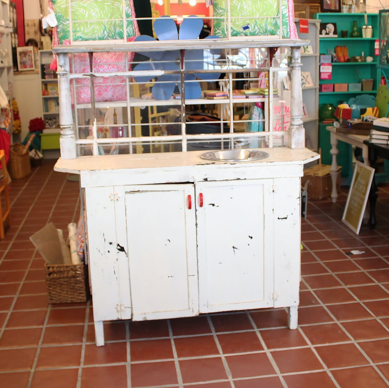 Vintage Repurposed Cabinet with Basin