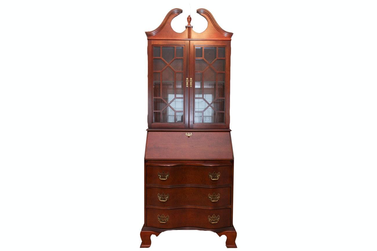 Chippendale Style Secretary Desk by Jasper Cabinet Company