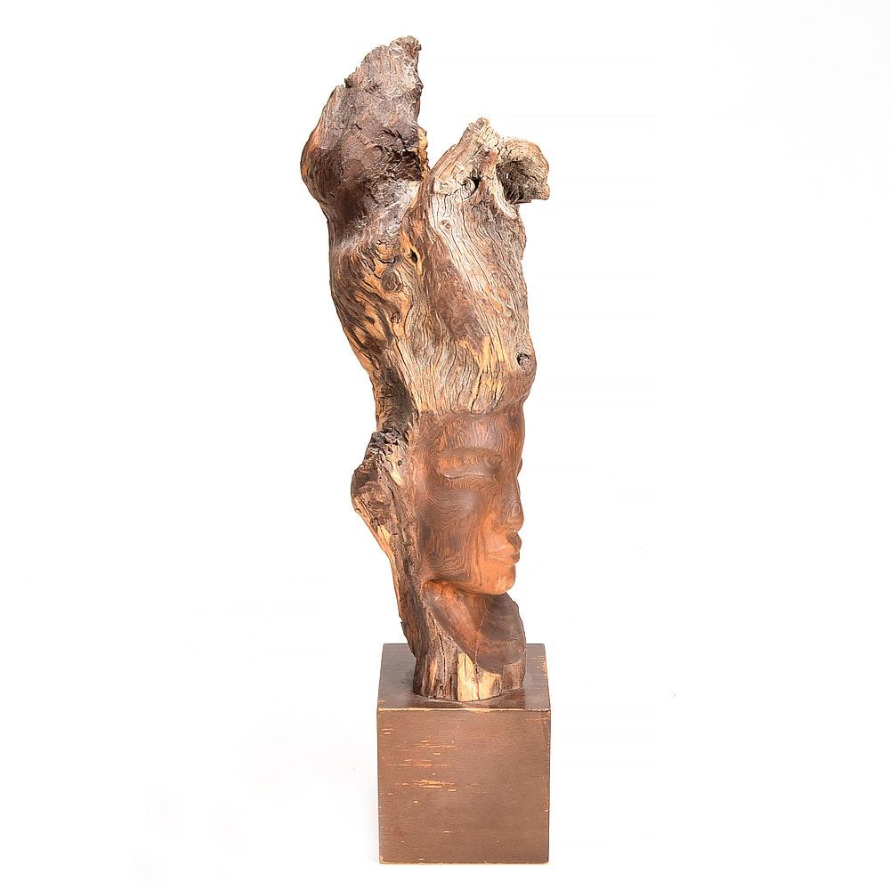 Hand-Carved Driftwood Sculpture