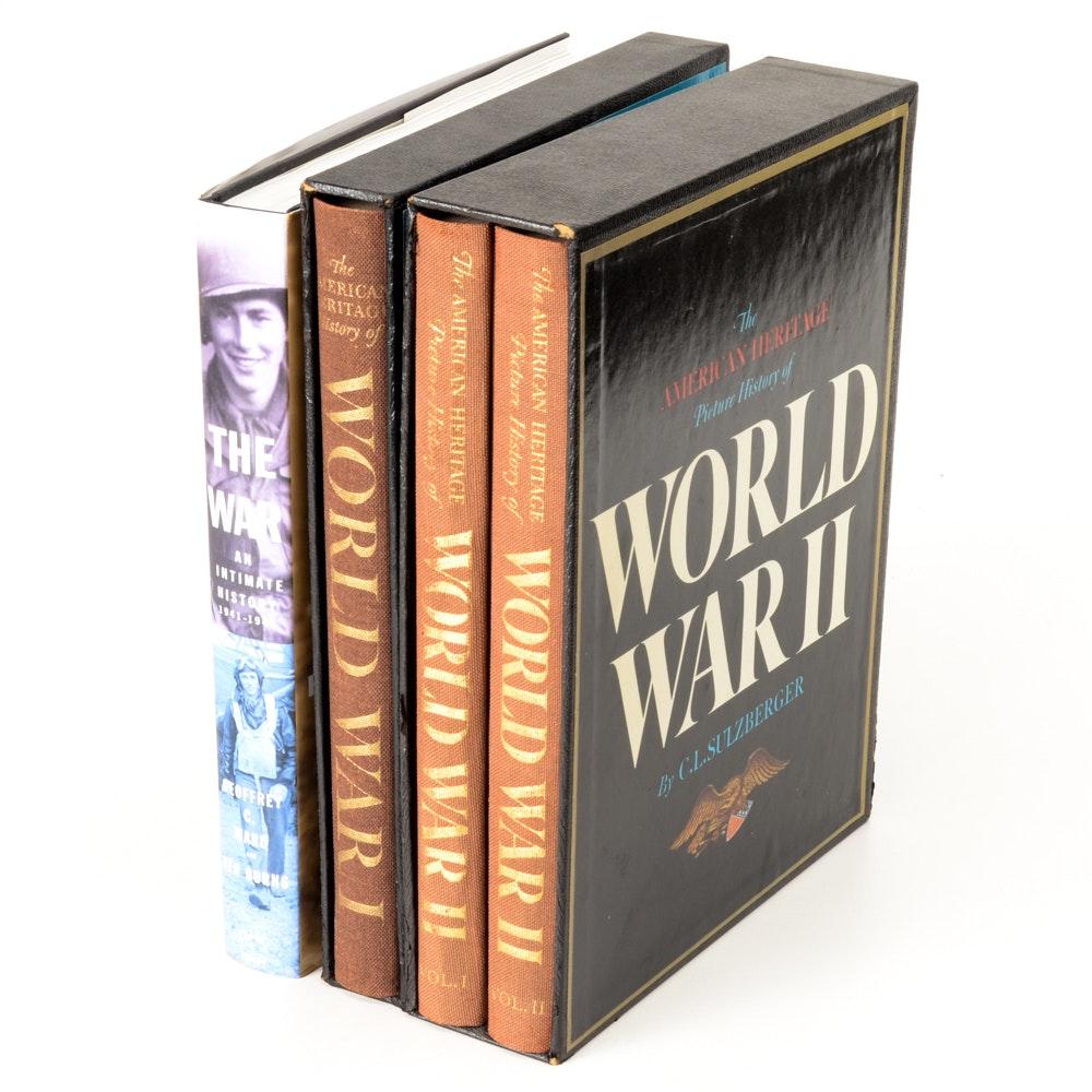 "World War Books Including 'Ken Burn's ""The War"""