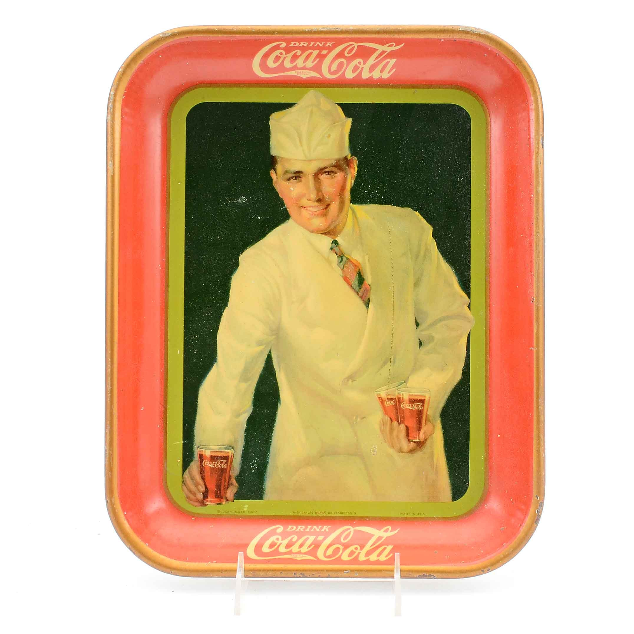 """1927 """"Drink Coca-Cola"""" Lithograph Serving Tray"""