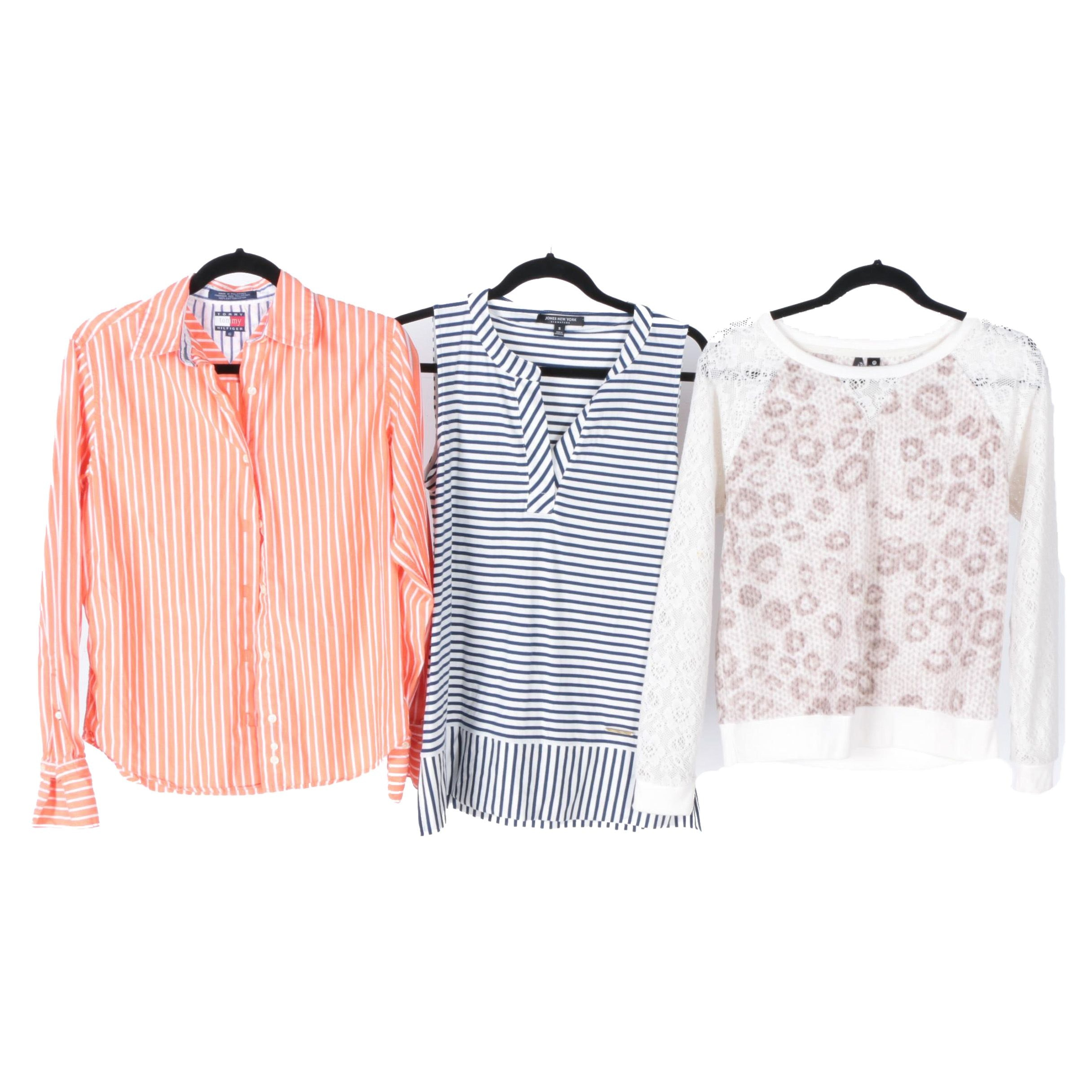 Three Women's Shirts Including Tommy Hilfiger and Jones New York