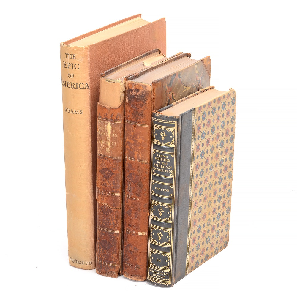 Antique and Vintage Books on American History