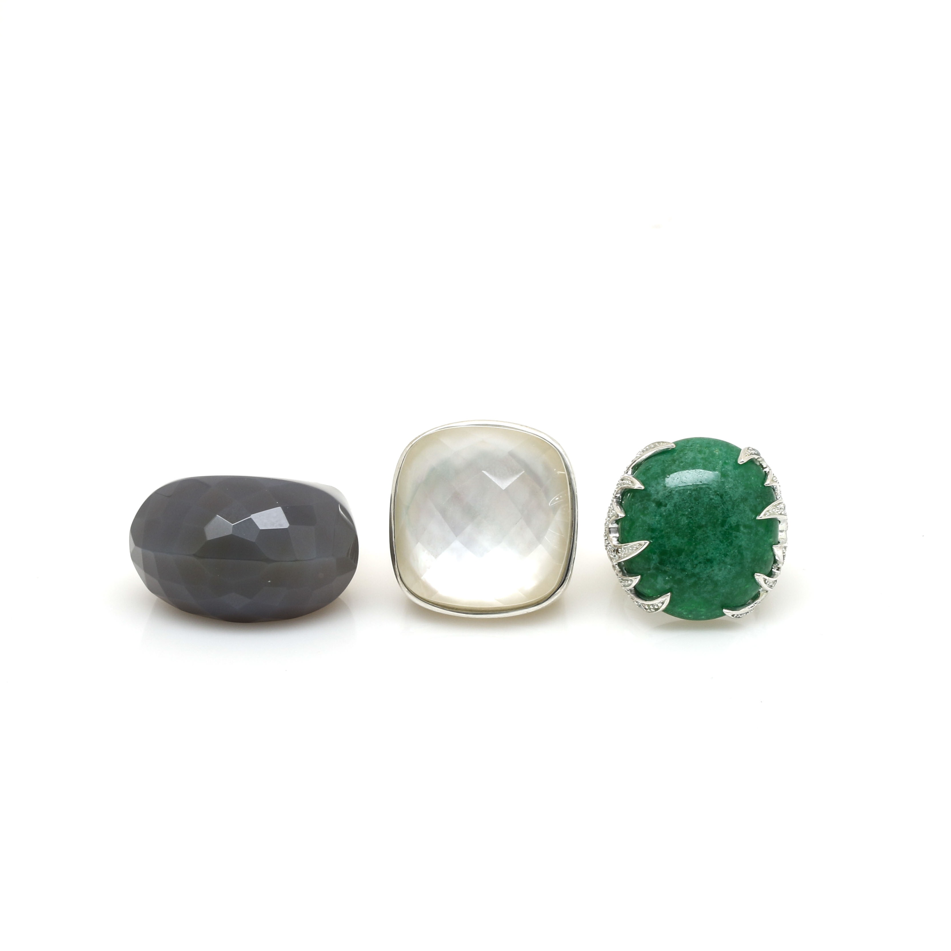 Sterling Silver Gemstone Ring Selection