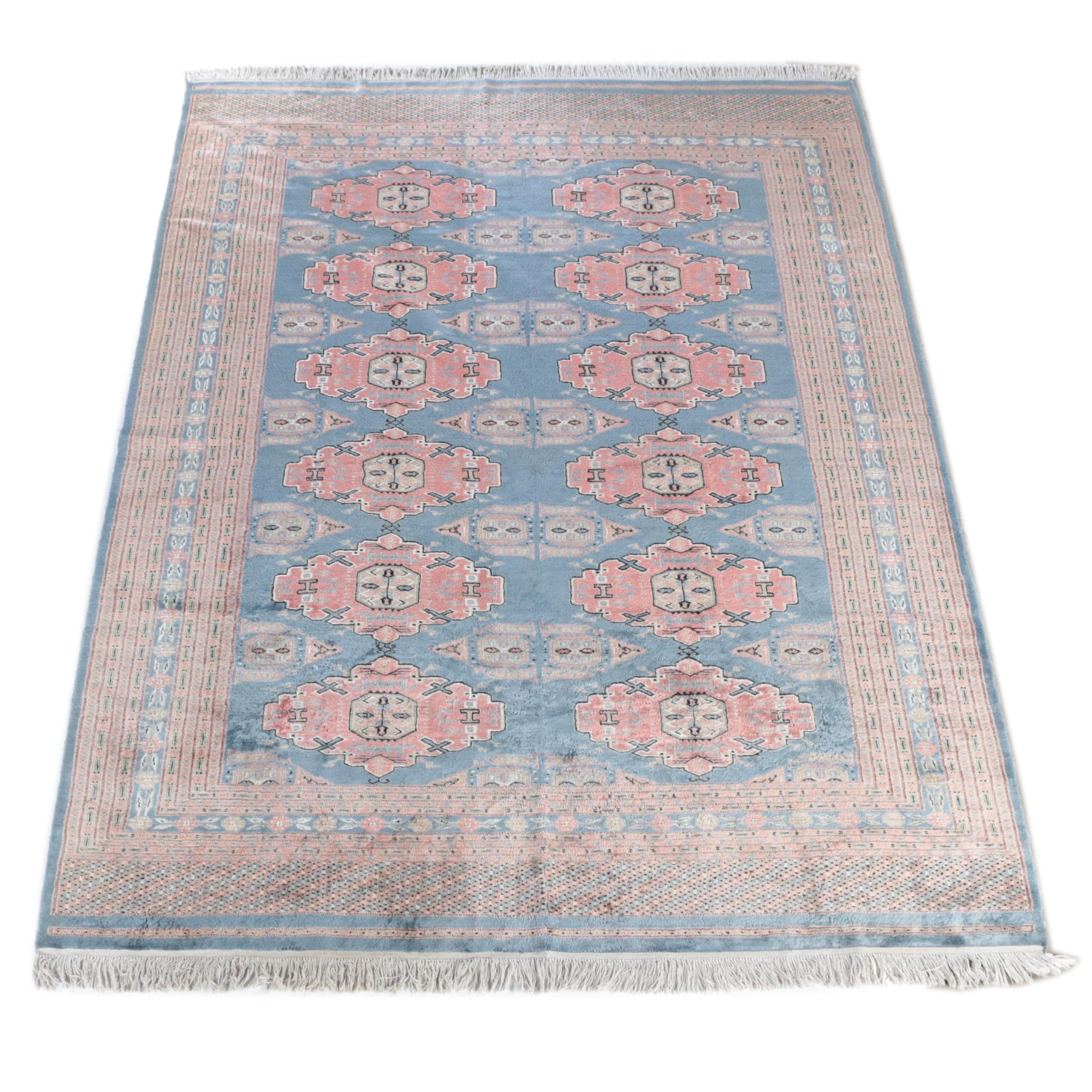 Hand-Knotted Pakistani Bokhara Wool Room Size Rug