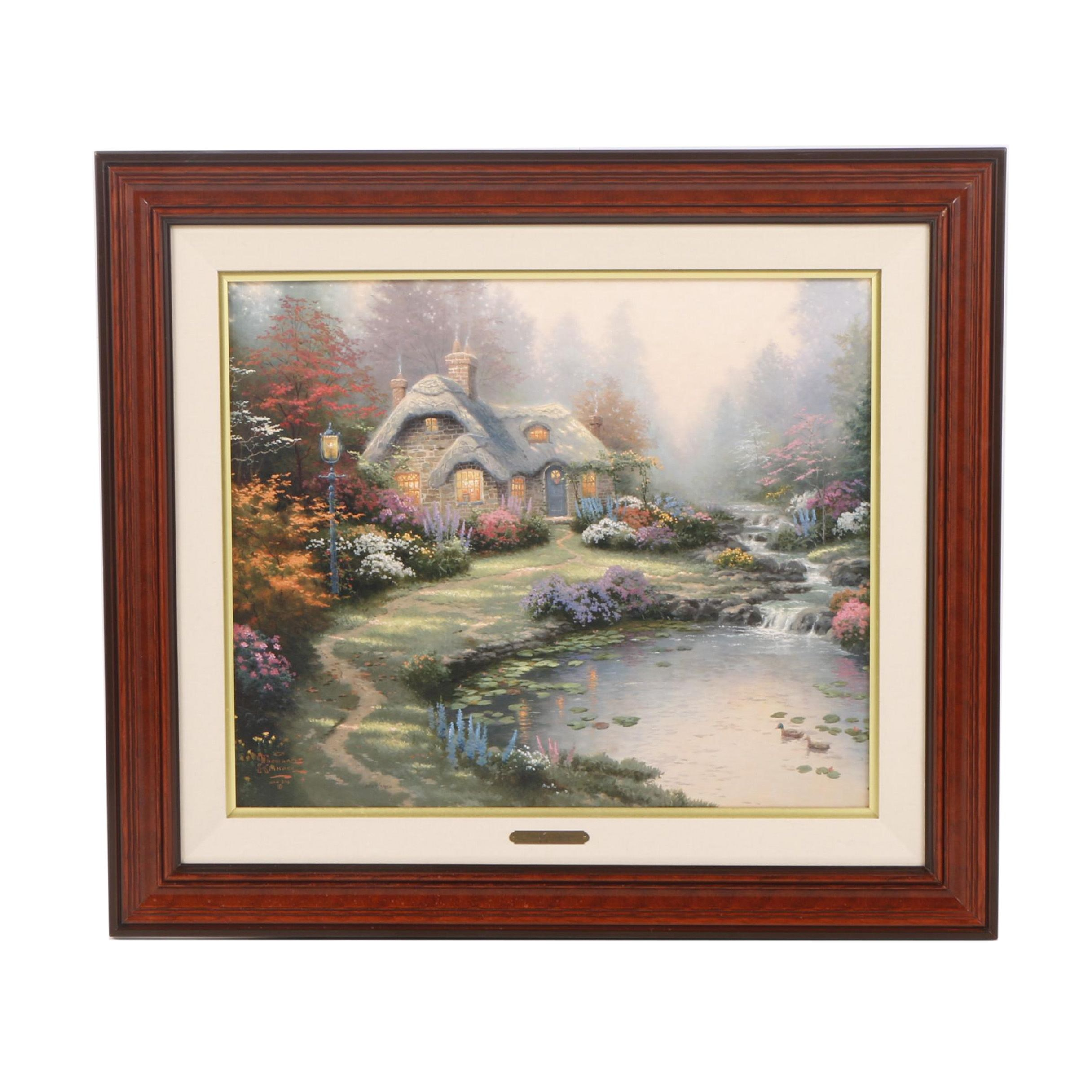 """Limited Edition Offset Lithograph After Thomas Kinkade """"Everett's Cottage"""""""