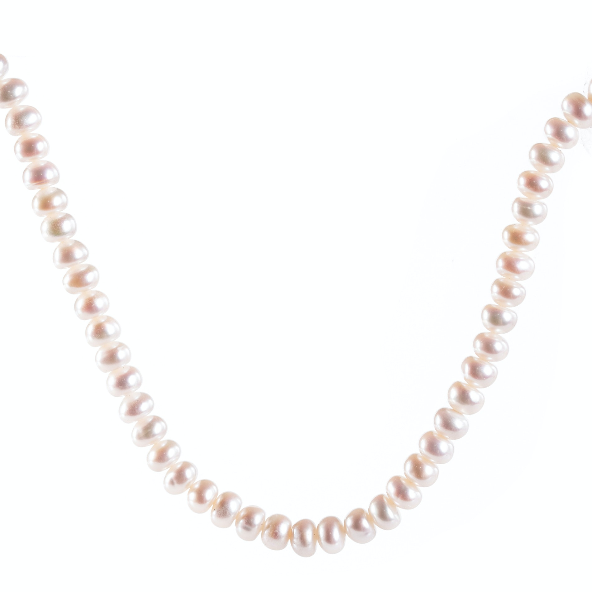 10K Yellow Gold Freshwater Pearl Strand Necklace