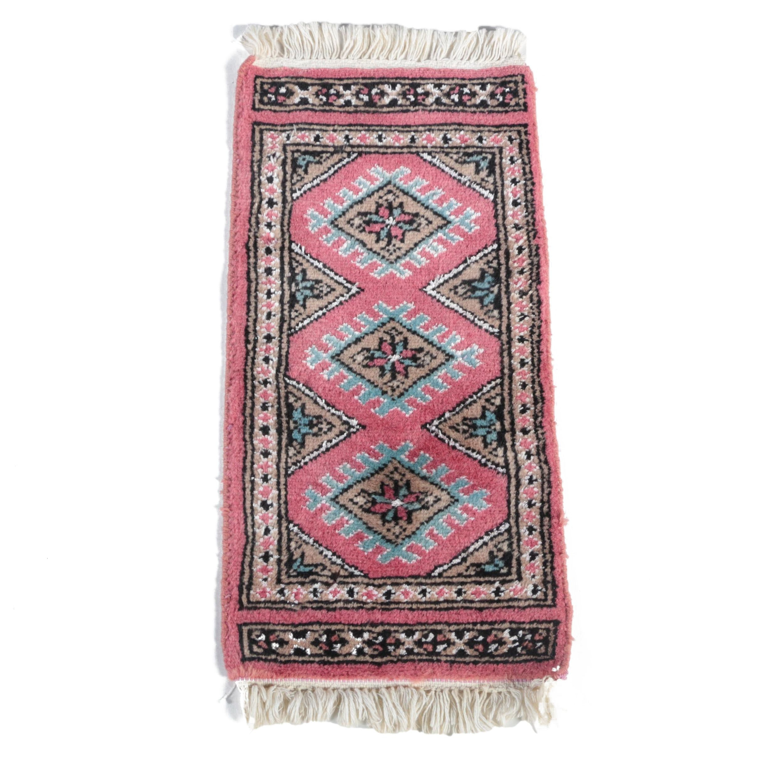Hand-Knotted Bokhara Accent Rug
