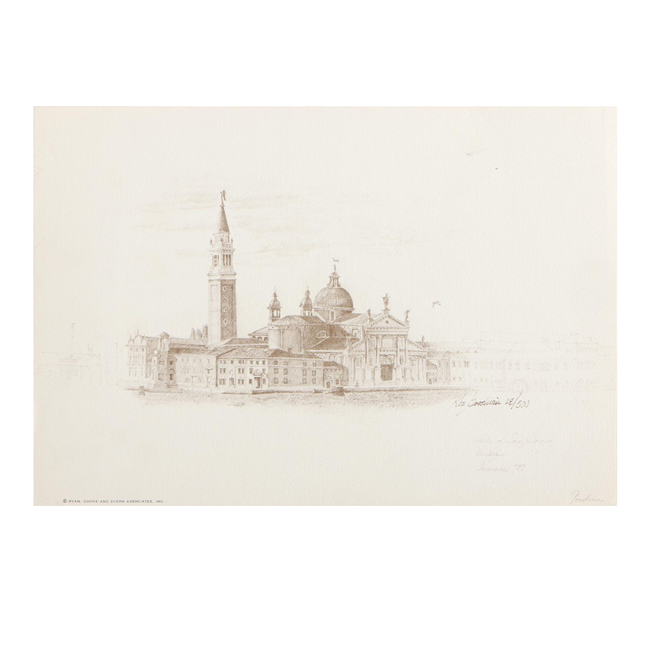 "Ron Goodwin Limited Edition Offset Lithograph ""Isle of San Gorgio"""