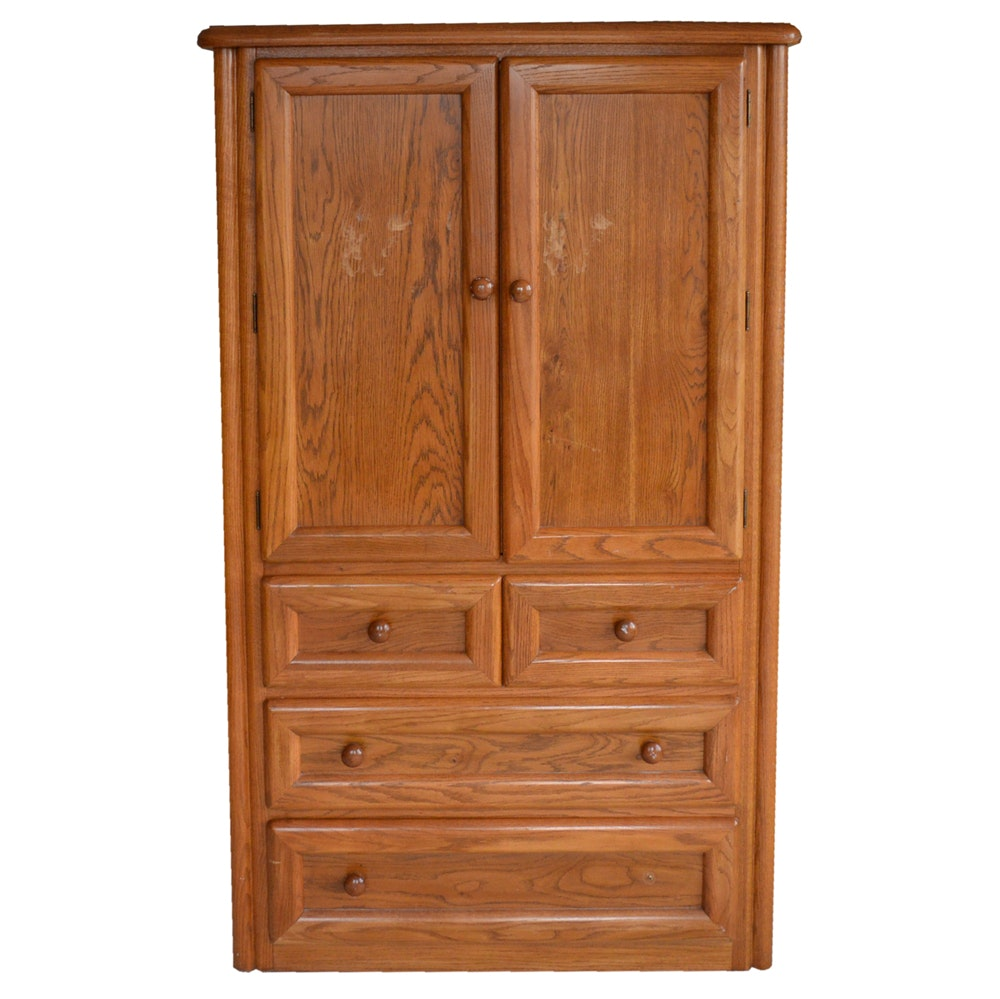 Vintage Oak Armoire by Thomasville