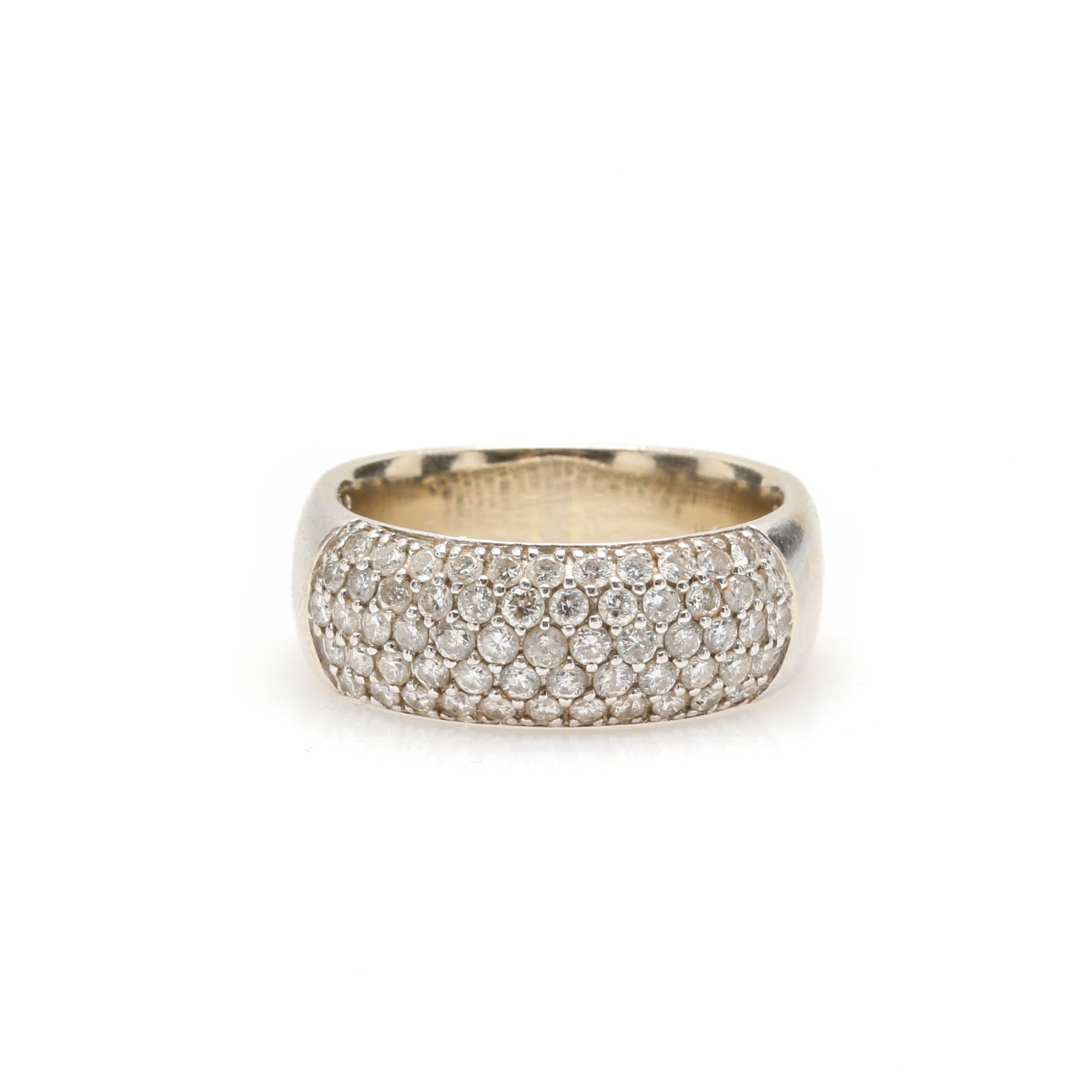 14K White Gold 1.05 CTW Diamond Ring Band