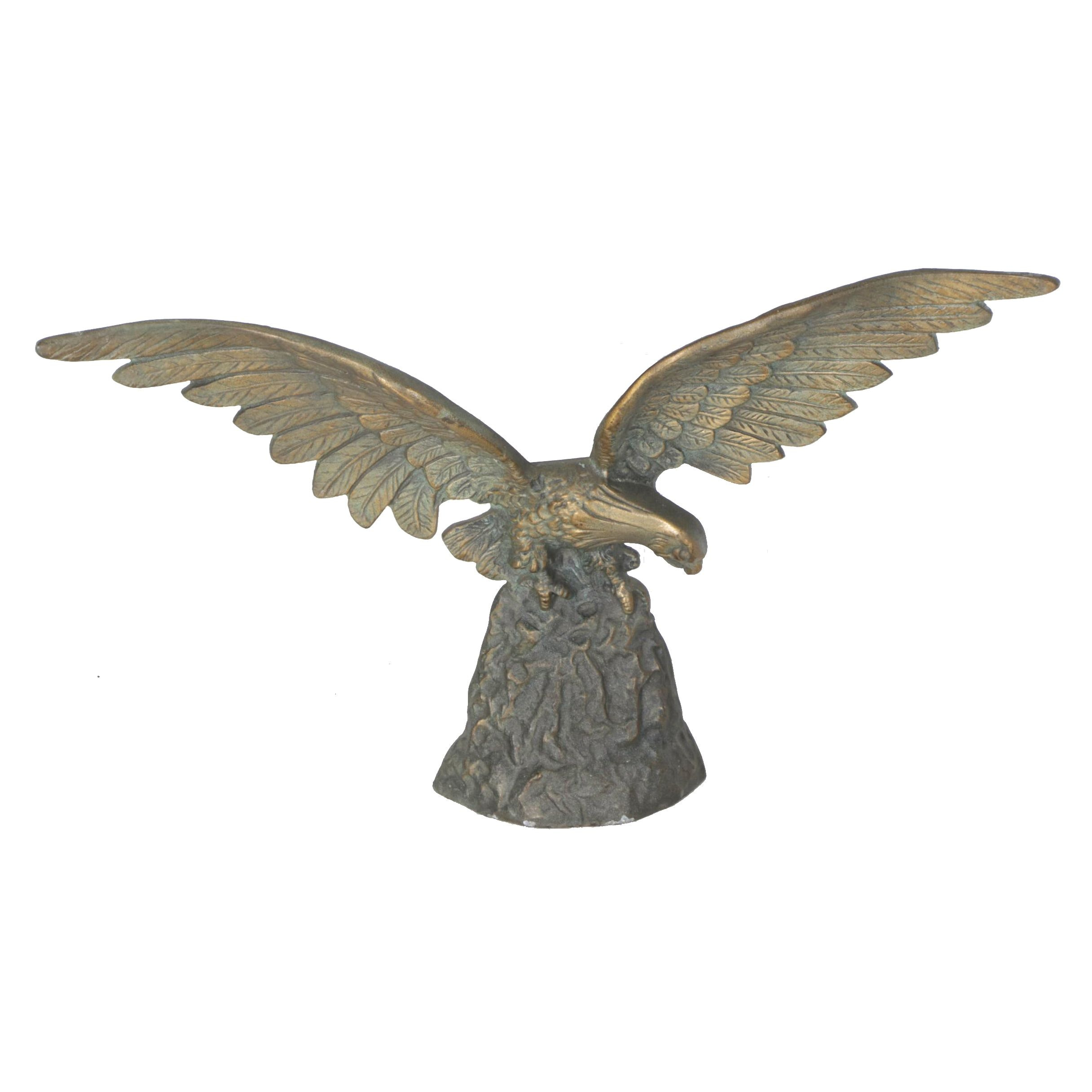 Brass Eagle Sculpture