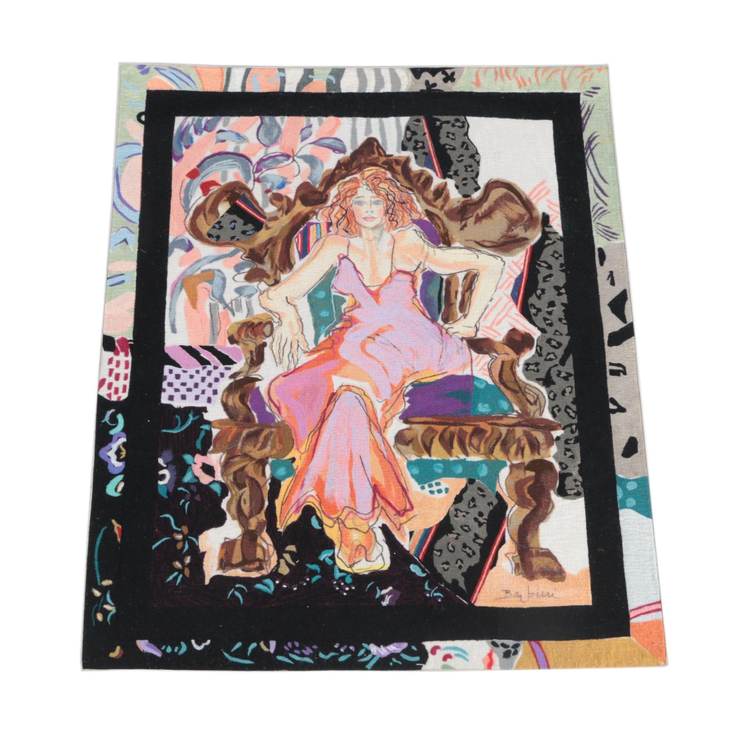Hand-Painted Portrait Area Rug