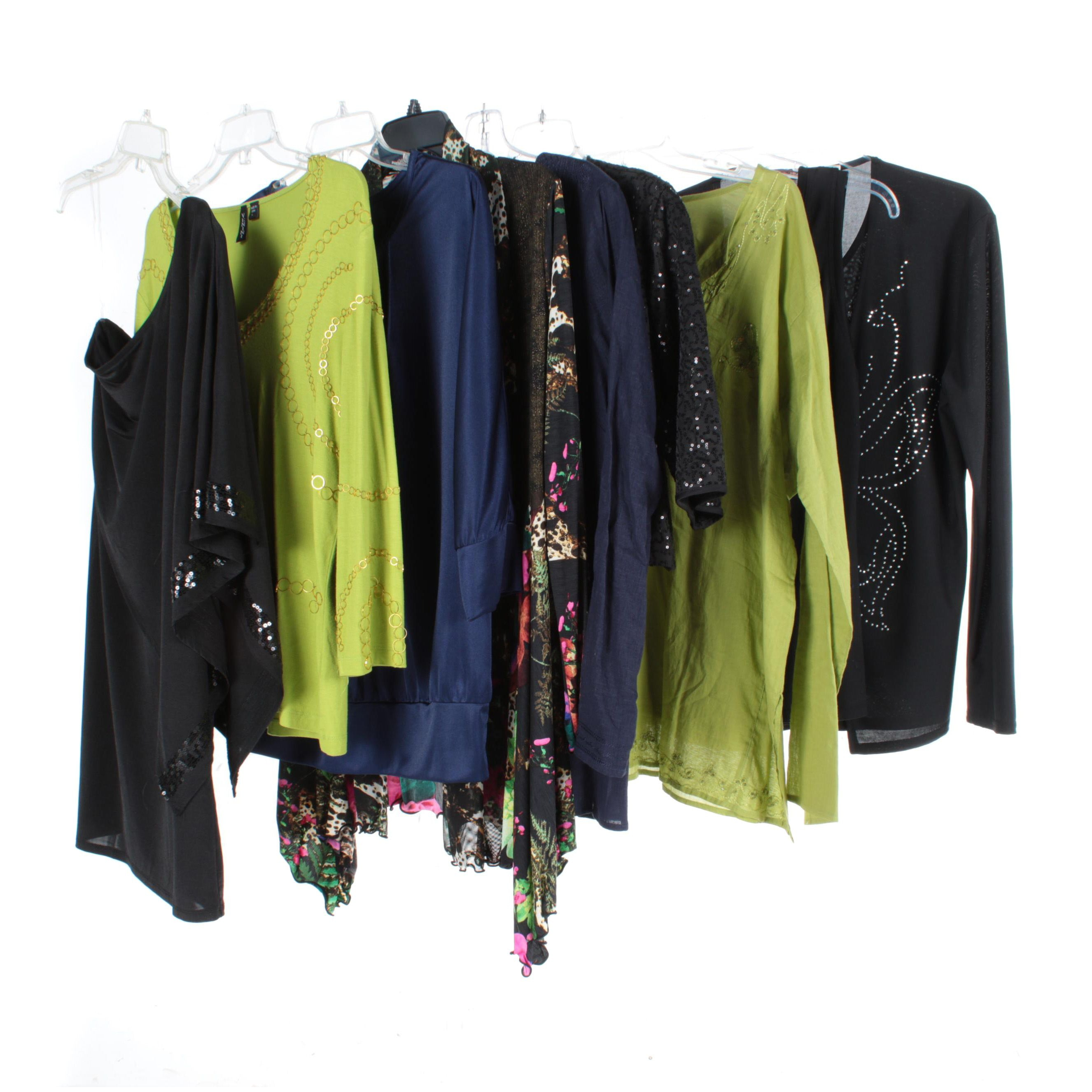 Women's Separates Variety in Black, Blue and Green