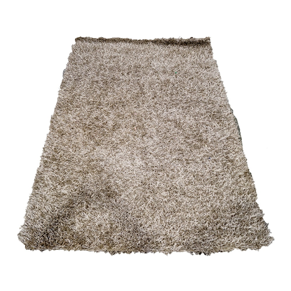 """Hand-Knotted """"Silver Urban Shag"""" Area Rug from Sofa Mart"""