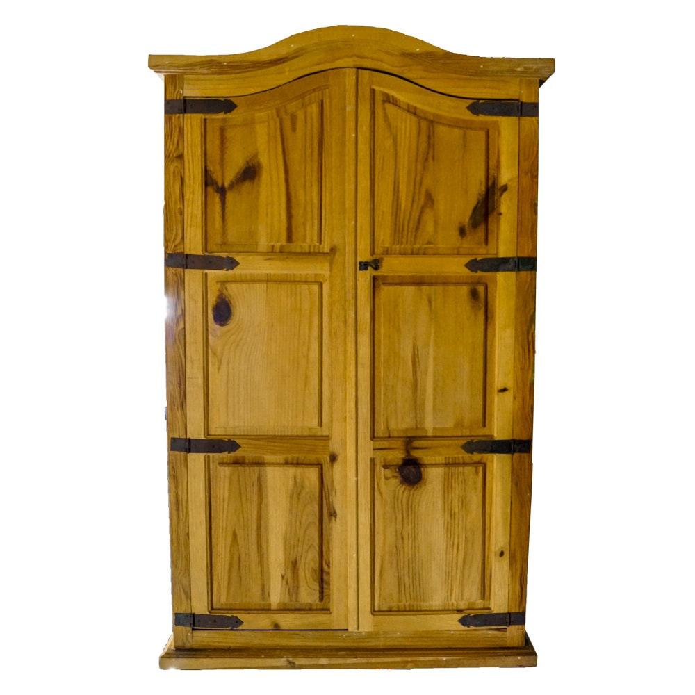 Mexican Pine Wardrobe Cabinet