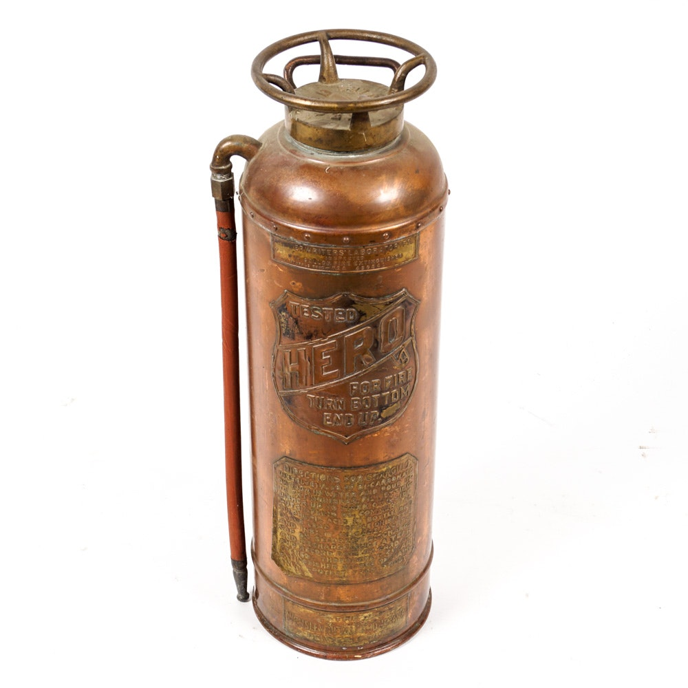 Vintage Copper Fire Extinguisher