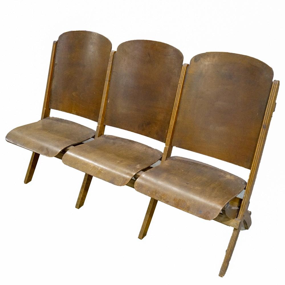Vintage Laminated Birch Theater Seats