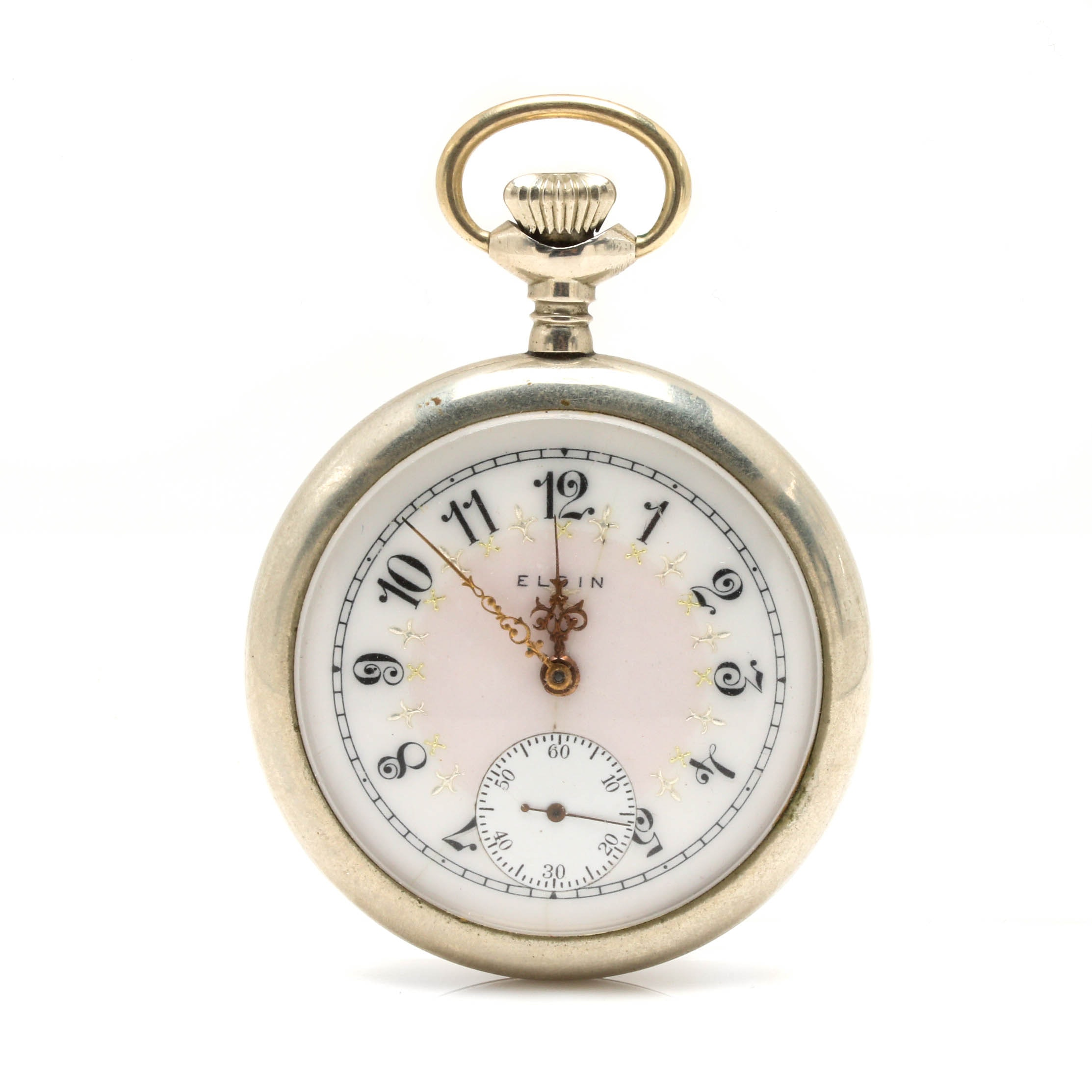 Open Face Elgin Silveroid Pocketwatch