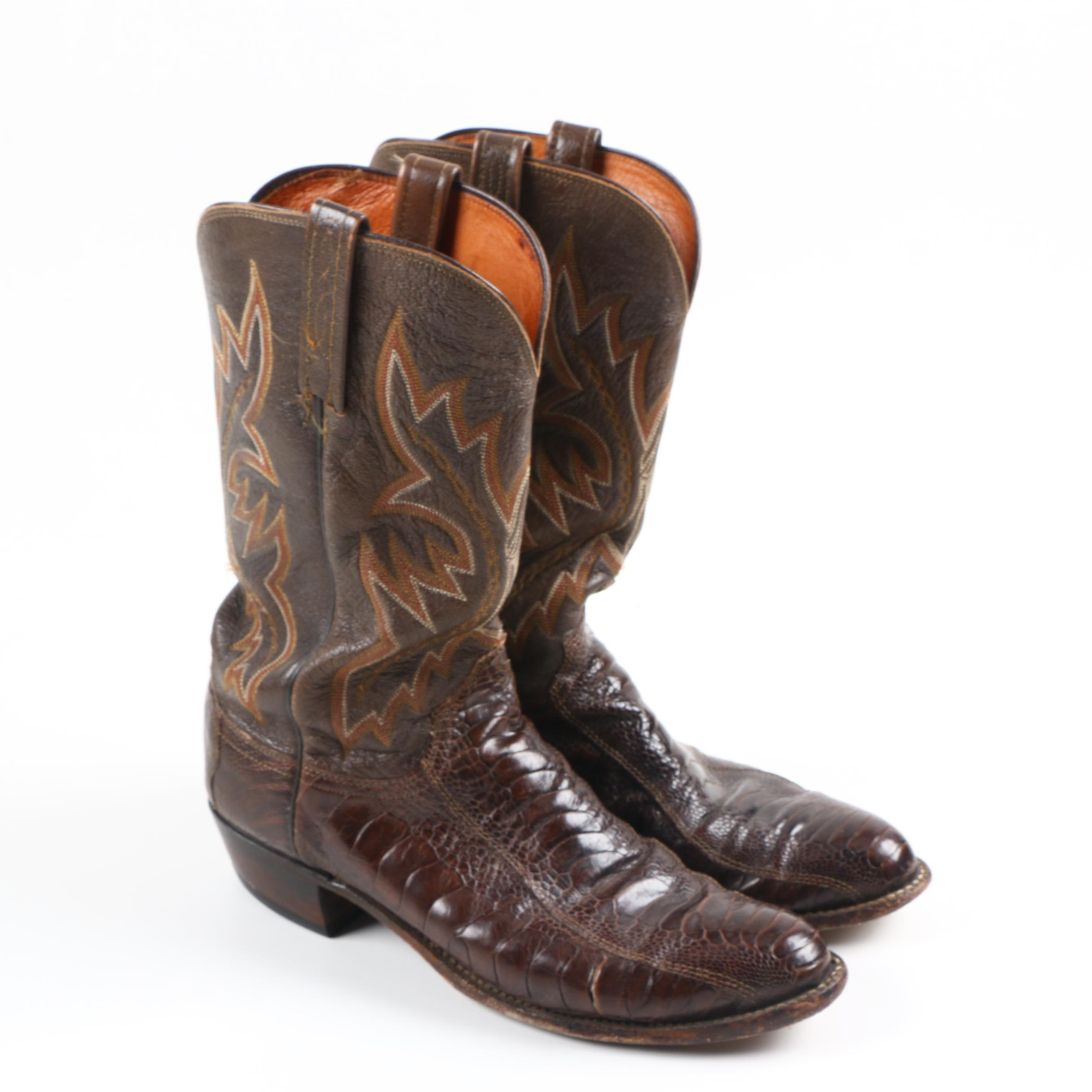 1883 by Lucchese Men's Brown Leather Cowboy Boots