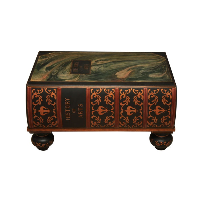 History of Arts Book Shaped Storage Table