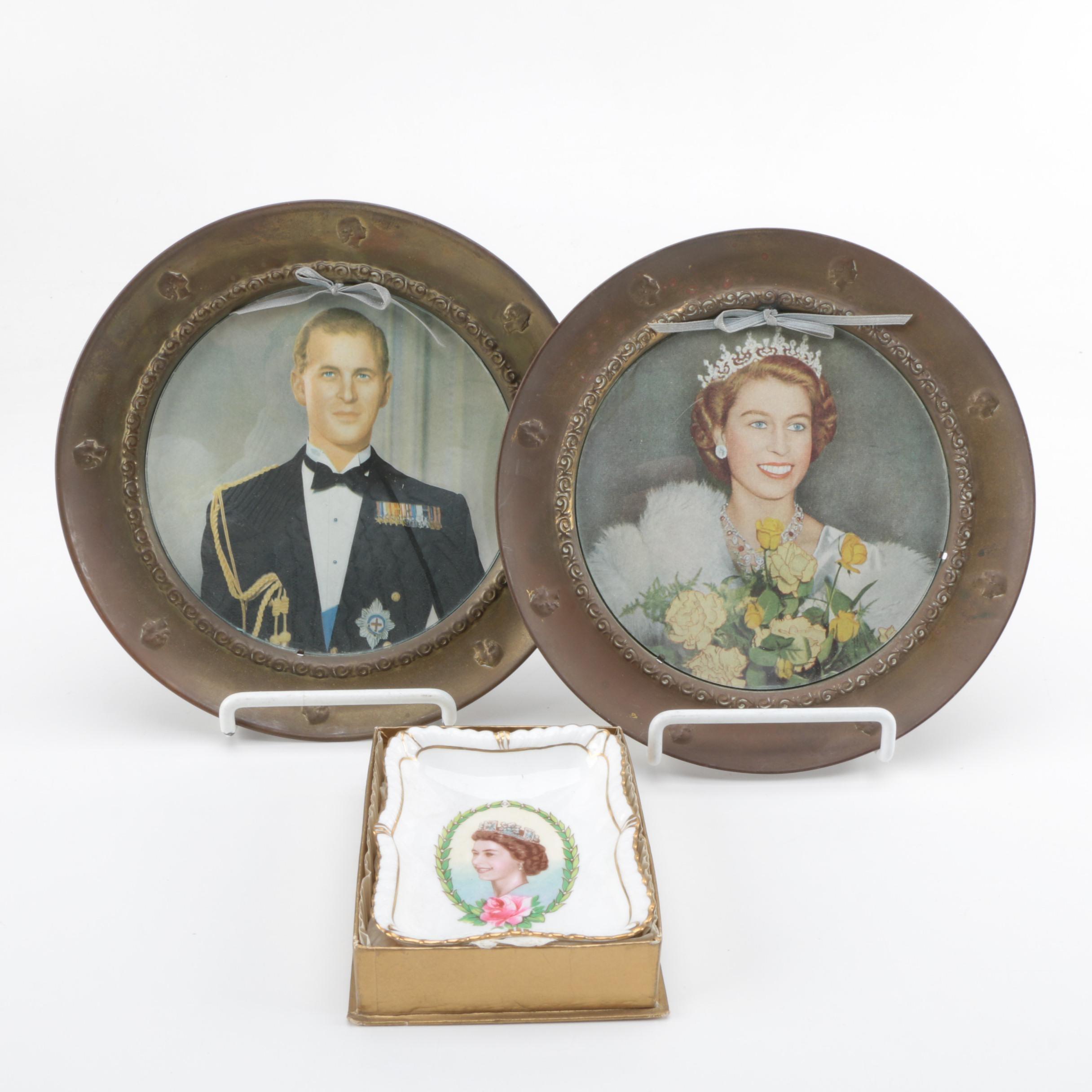 Queen Elizabeth II and Prince Phillip Commemorative Dishes