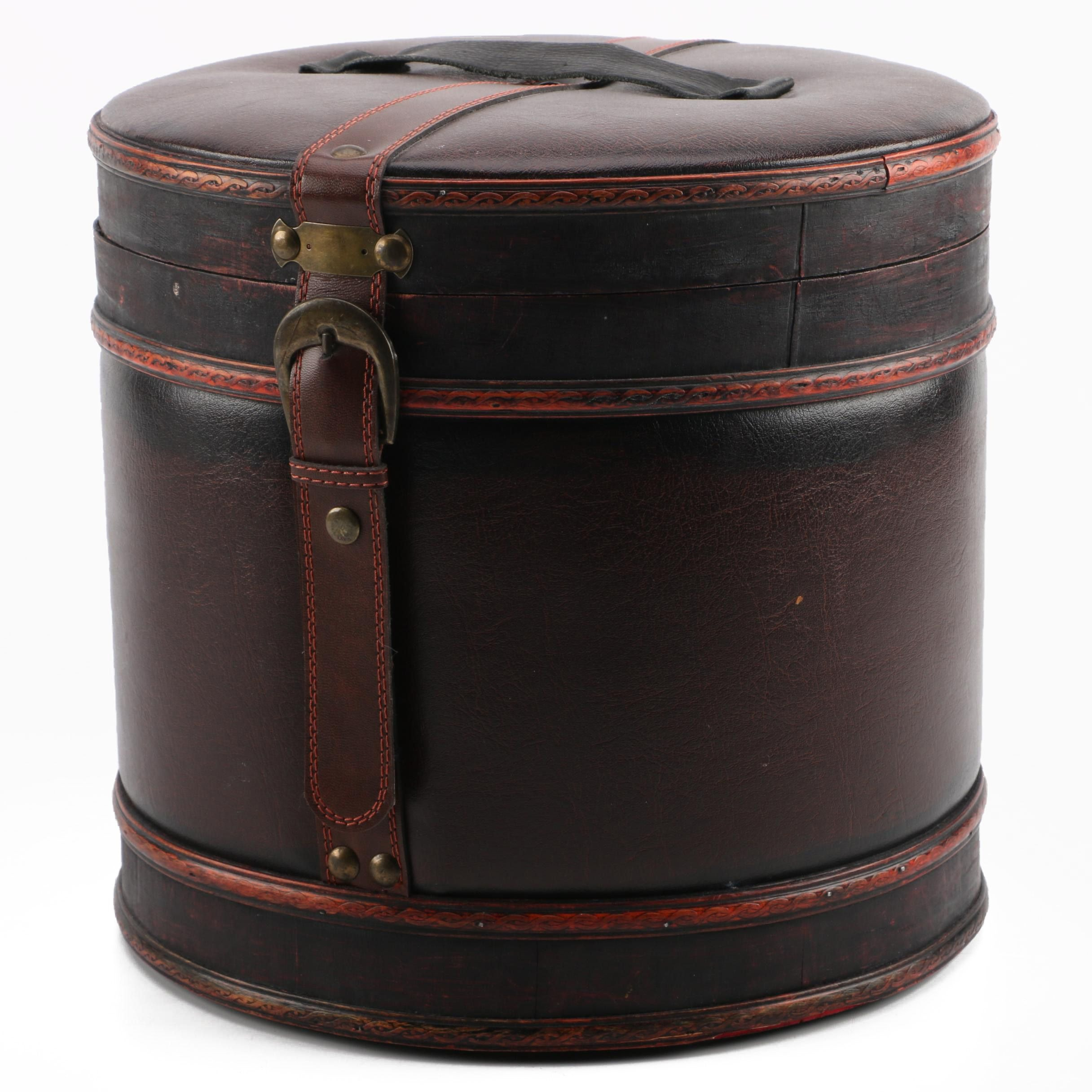 Leather Hat Box