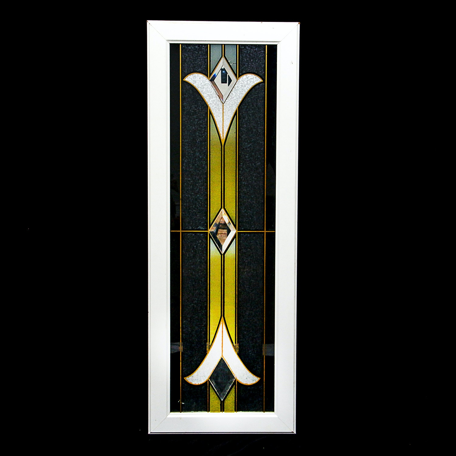 Framed Stained Glass Style Panel