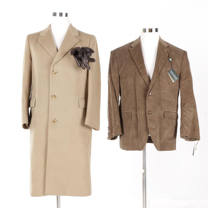 489d7ed573d Men's Yves Saint Laurent Coat and Lauren Ralph Lauren Jacket : EBTH
