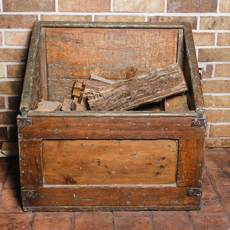 Wooden Firewood Bin
