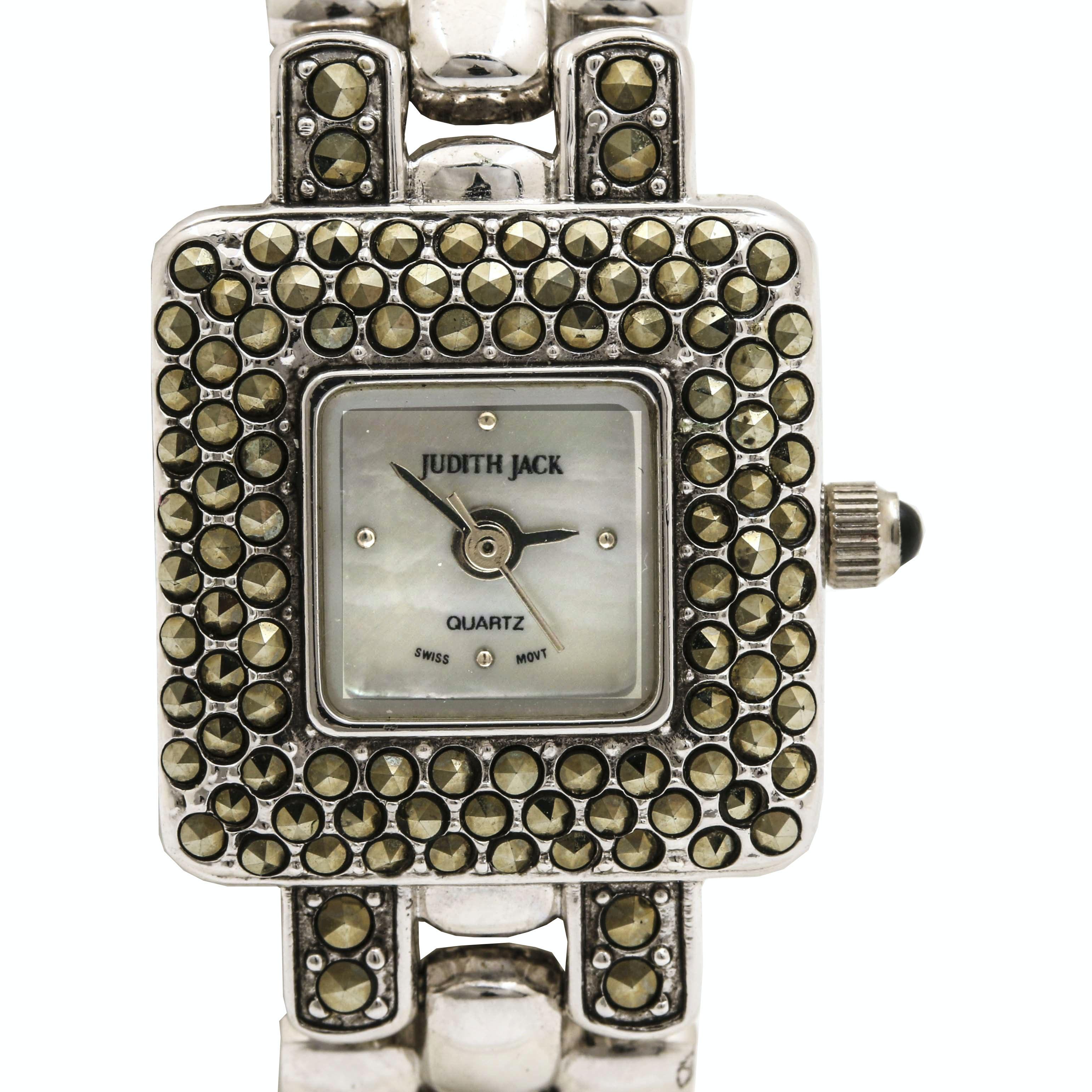 Judith Jack Sterling Silver Marcasite Wristwatch
