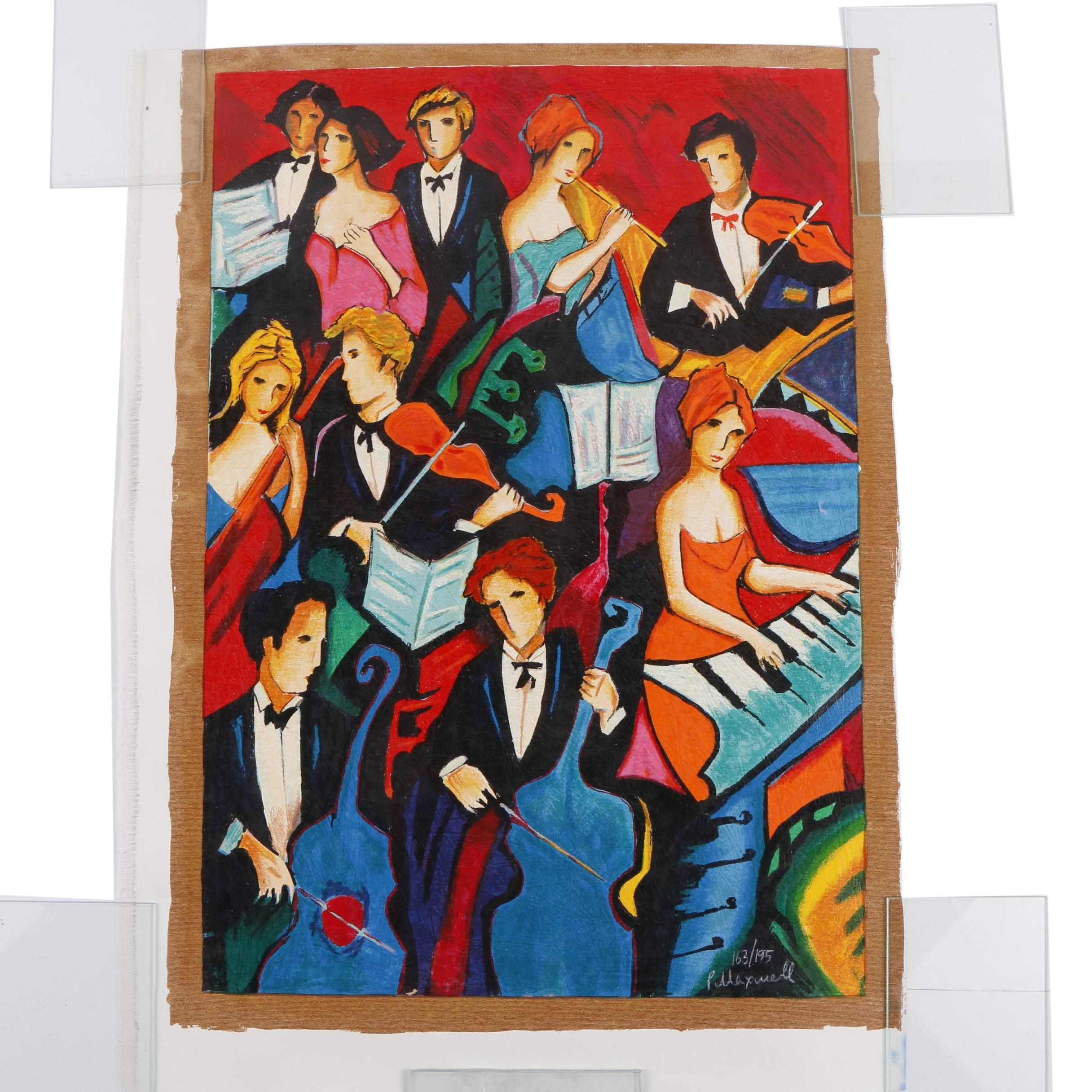 """Philip Maxwell Limited Edition Serigraph """"Orchestra"""""""