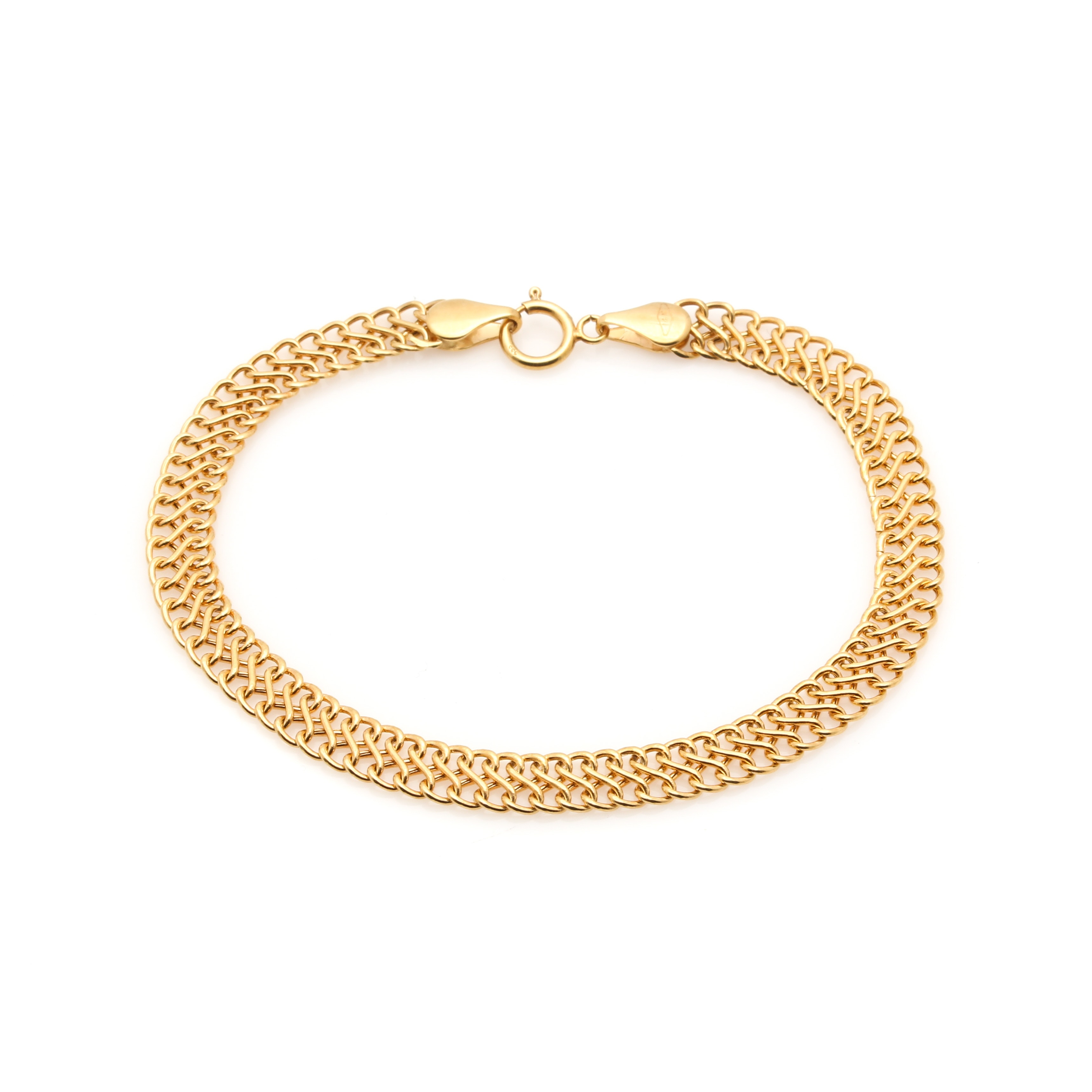 Milor 14K Yellow Gold Figure Eight Bracelet
