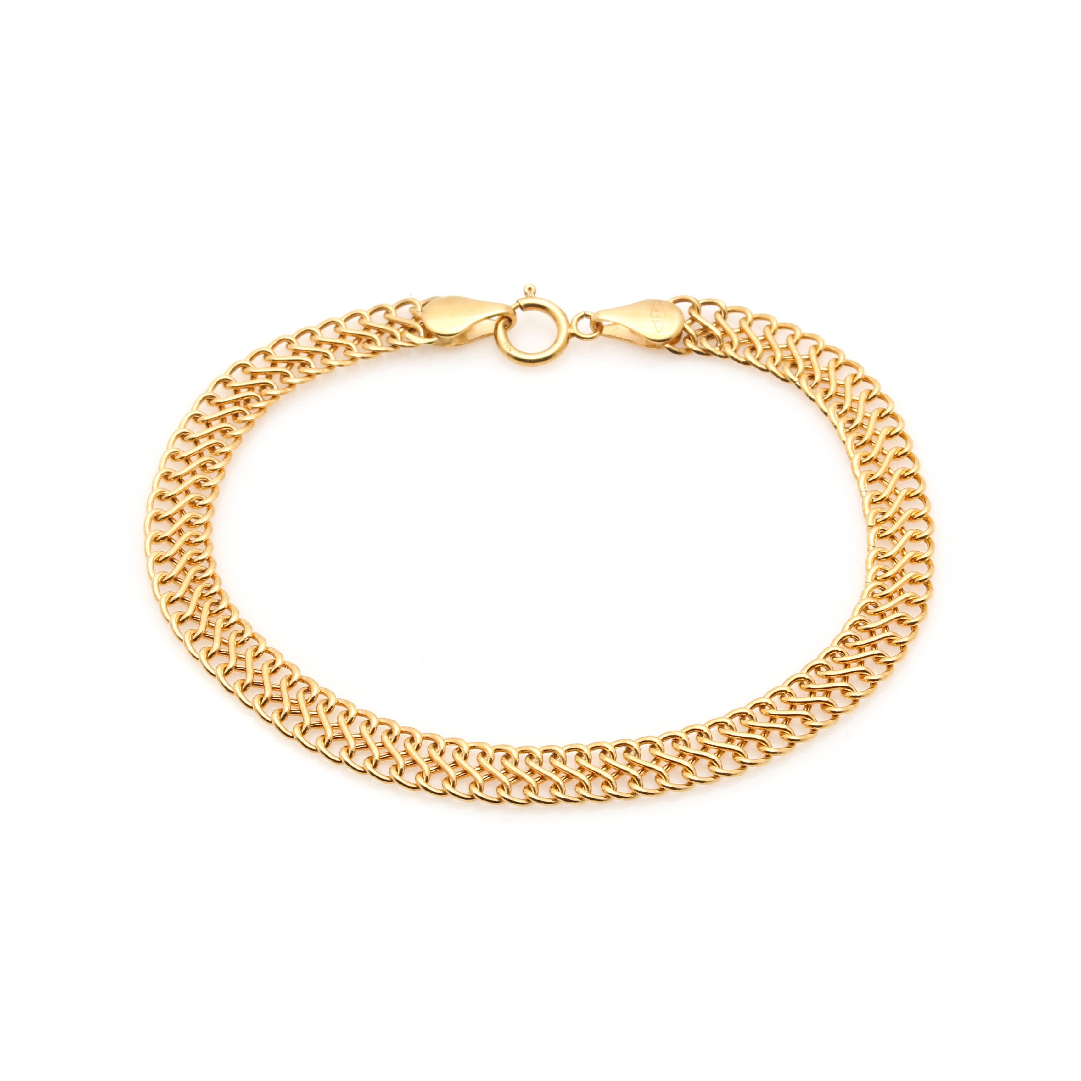 Milor 14K Yellow Gold Figure Eight Bracelet