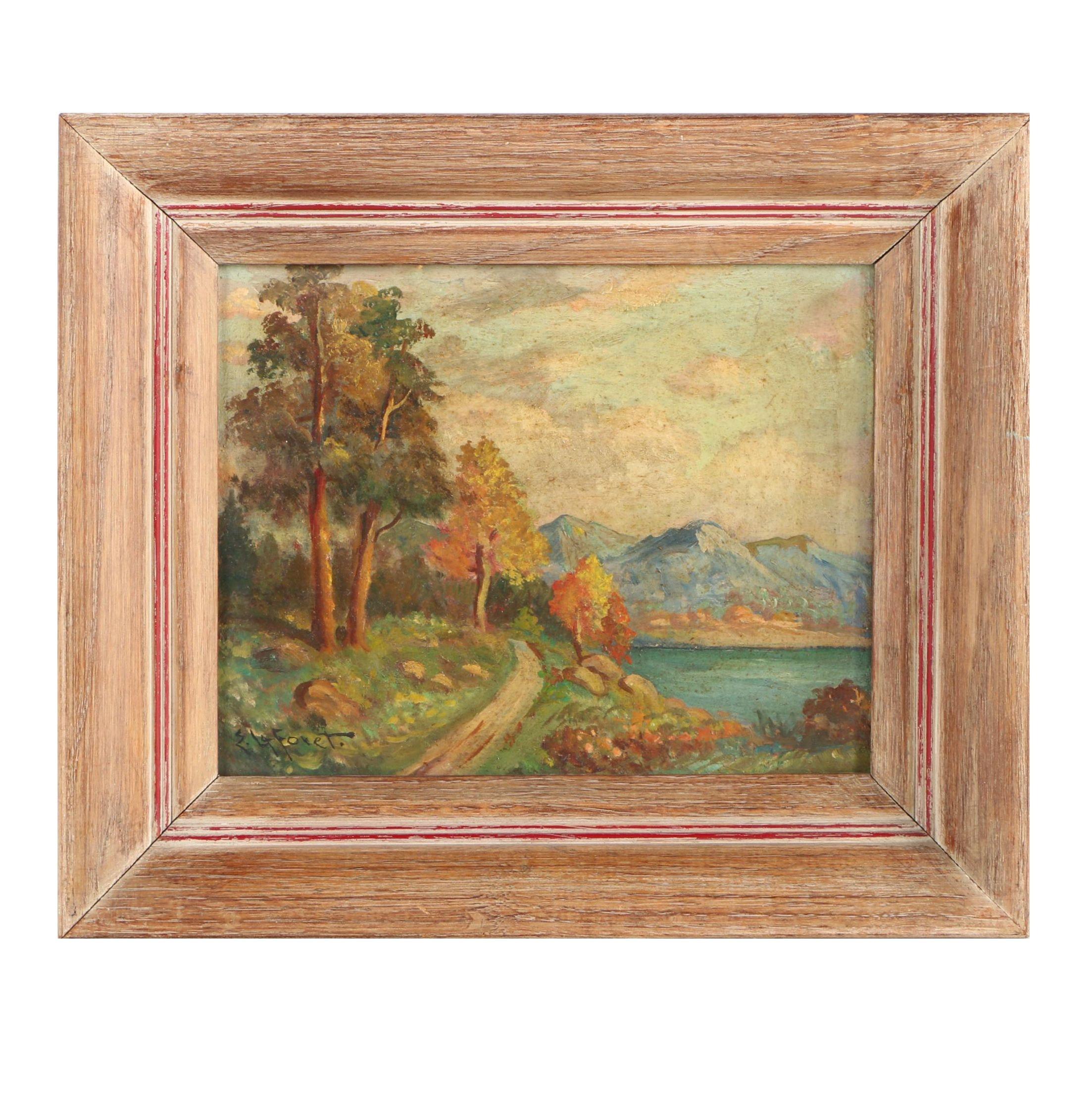 Eugene LaForet Oil Painting of Nature Scene