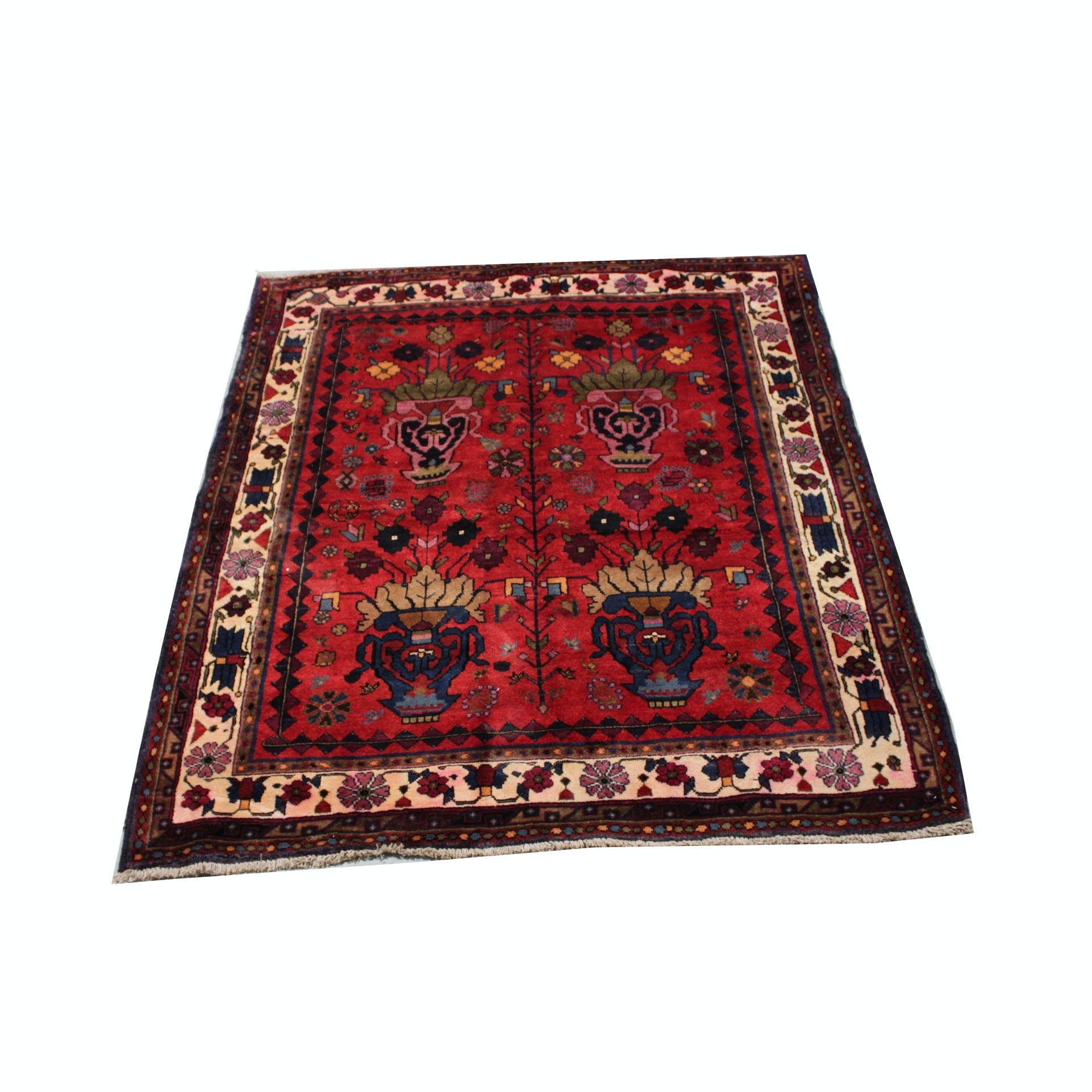 "Hand-Knotted Persian ""Sarouk"" Area Rug"