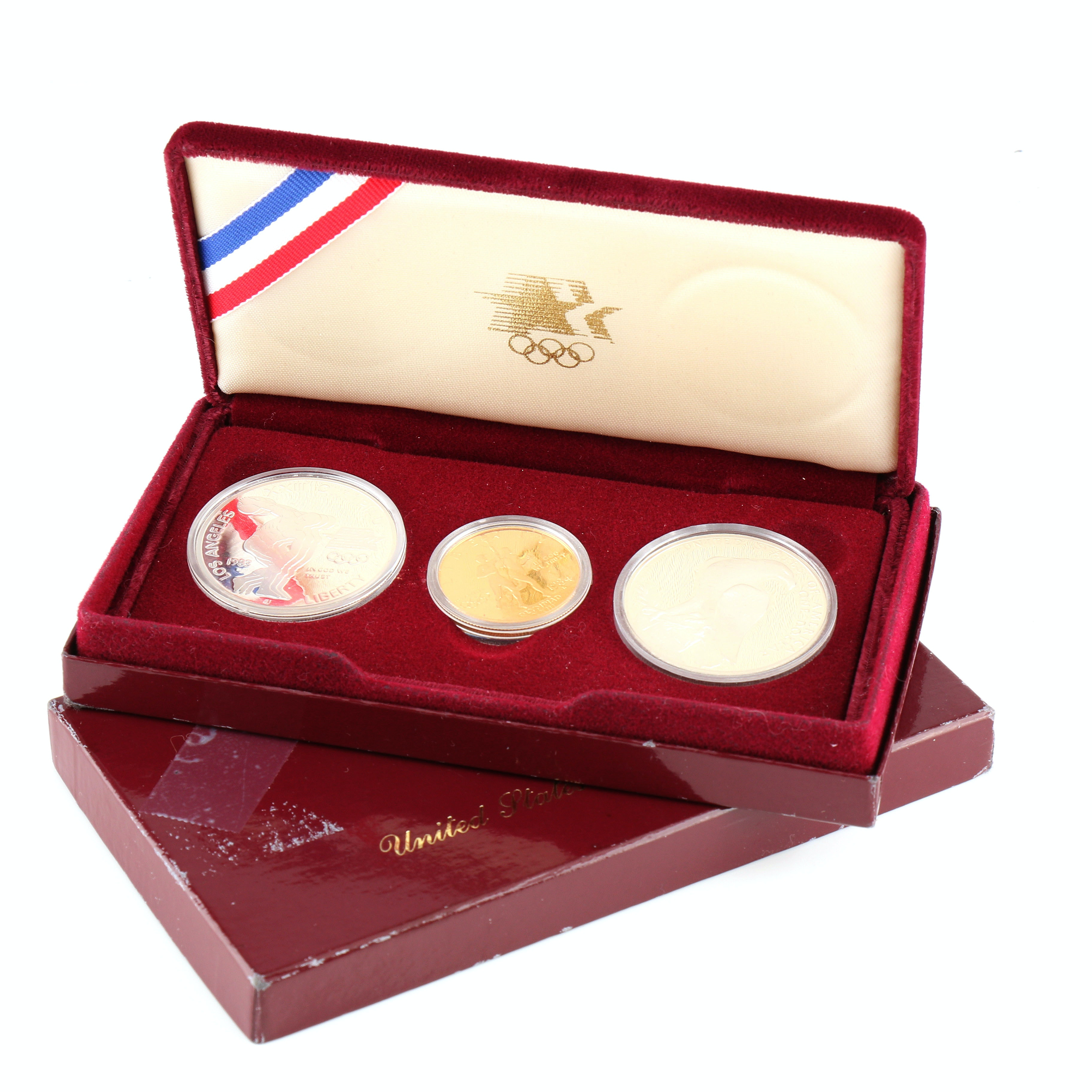 1984 Olympic Gold and Silver Commemorative U.S. Coin Set