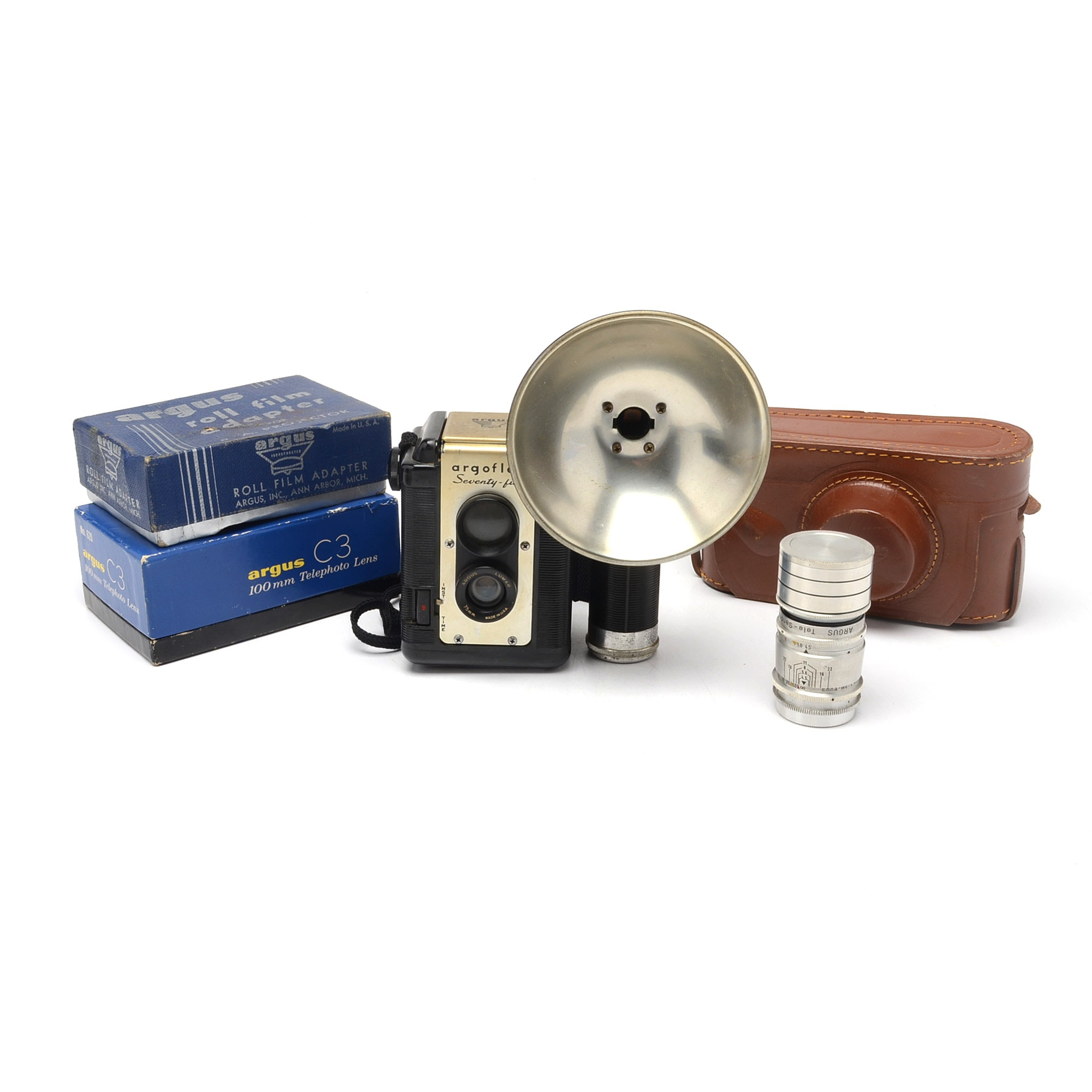 Assortment of Argus Cameras and Accessories