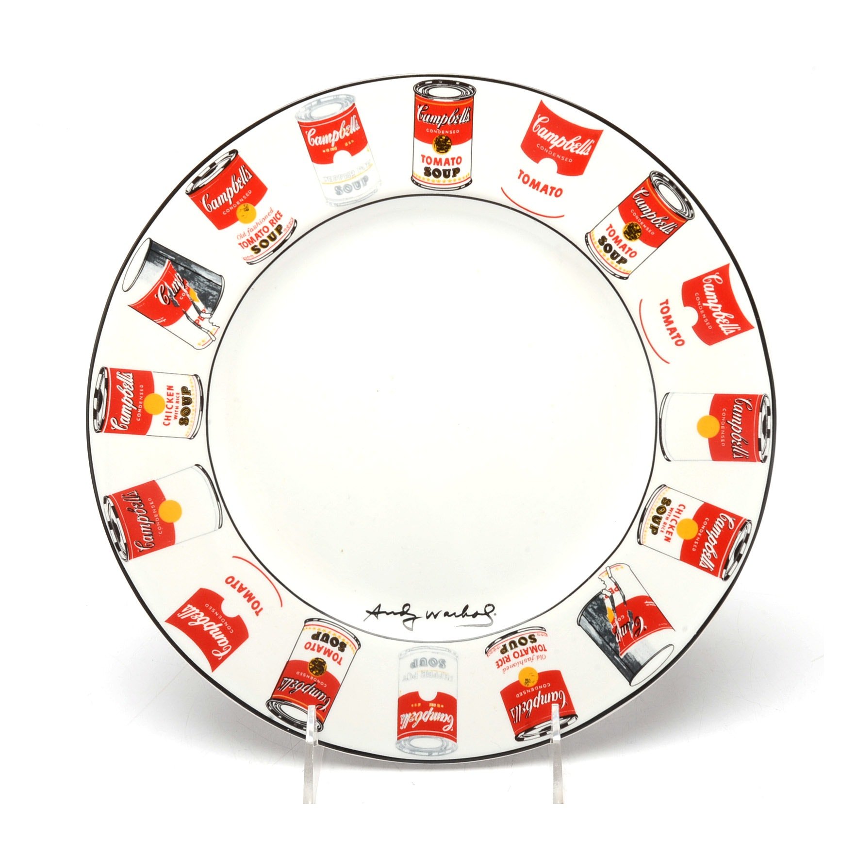 "Block ""Pop"" Andy Warhol Campbell's Soup Plate"