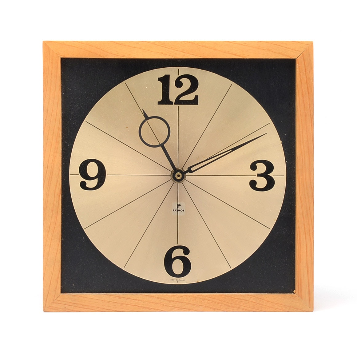 Mid Century Modern Wall Clock by Raymor