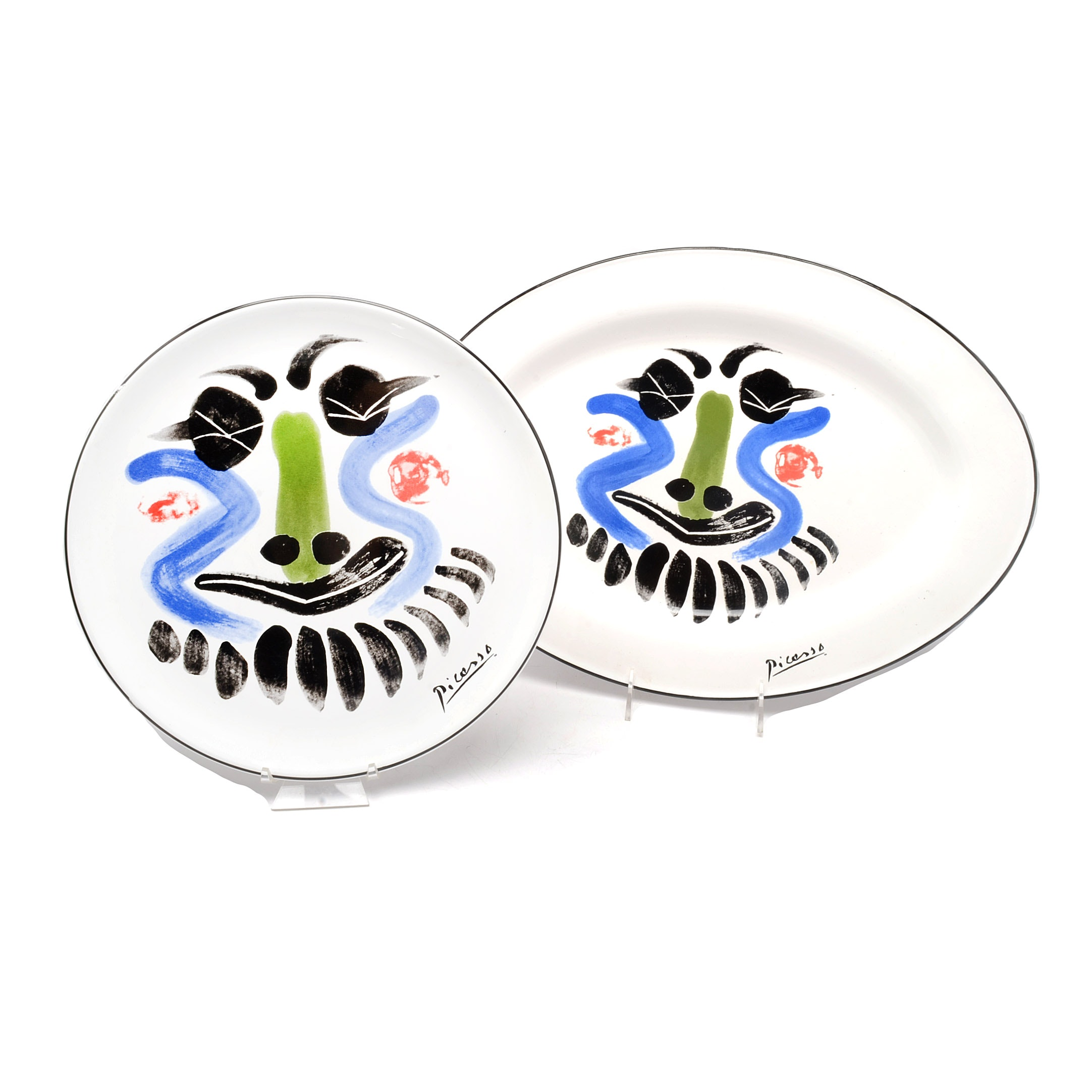"""Masterpiece Editions Picasso """"Face"""" Tray and Plate"""