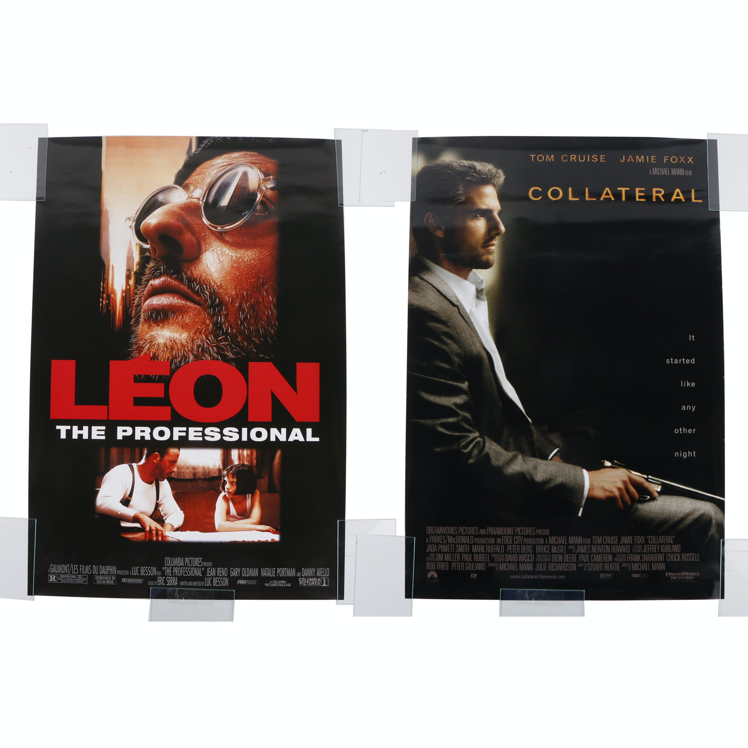 "Offset Lithographs Movie Posters ""Léon: The Professional"" and ""Collateral"""
