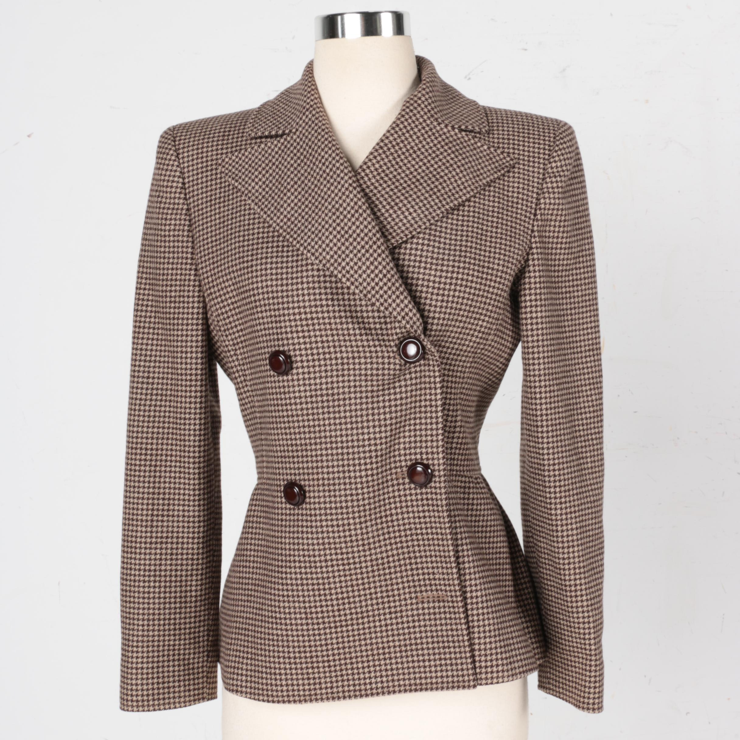 Women's Valentino Boutique Houndstooth Suit Jacket