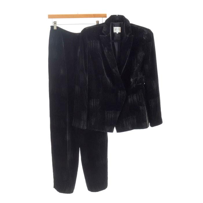 Armani Collezioni Women's Velvet Suit