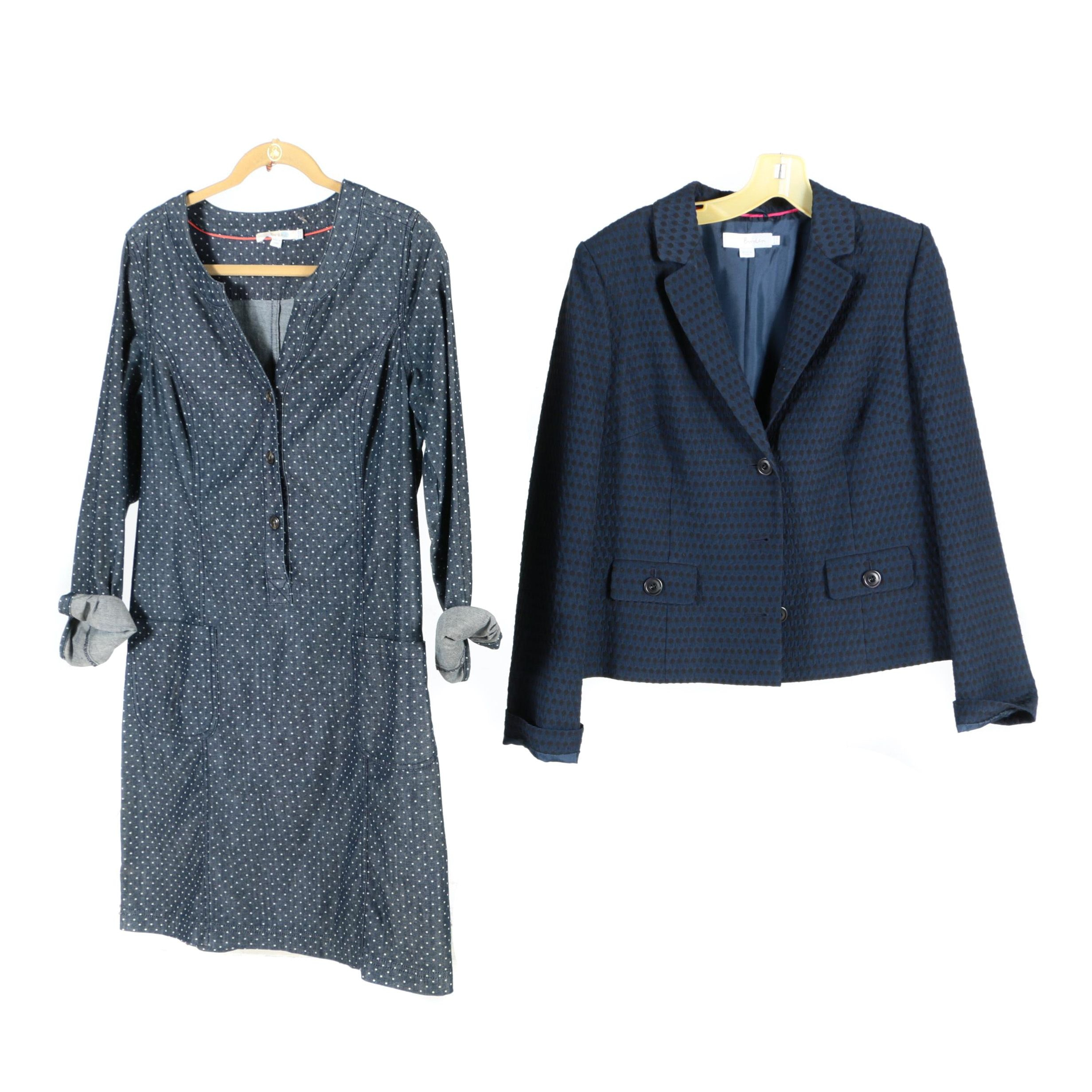 Women's Boden Blue Jacket and Dress