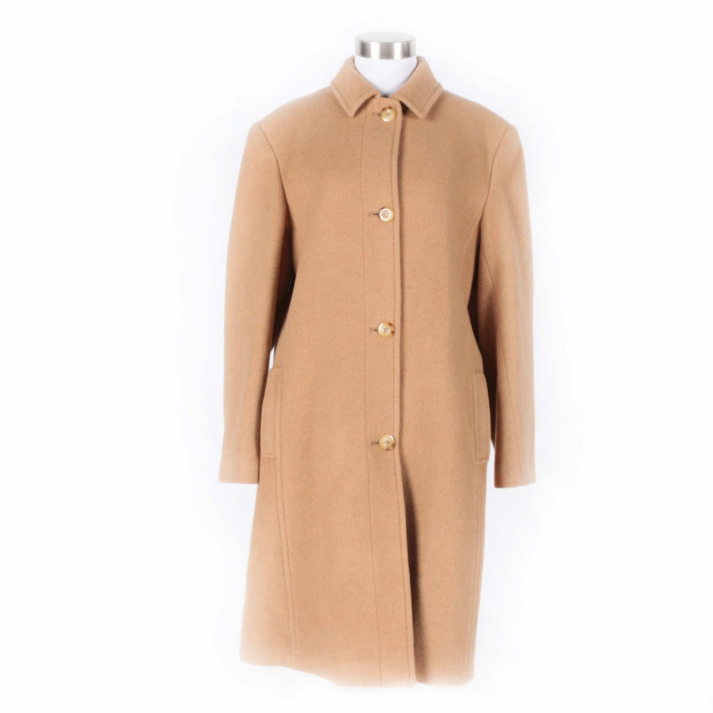 Bill Blass 100% Camel Hair Coat for Women