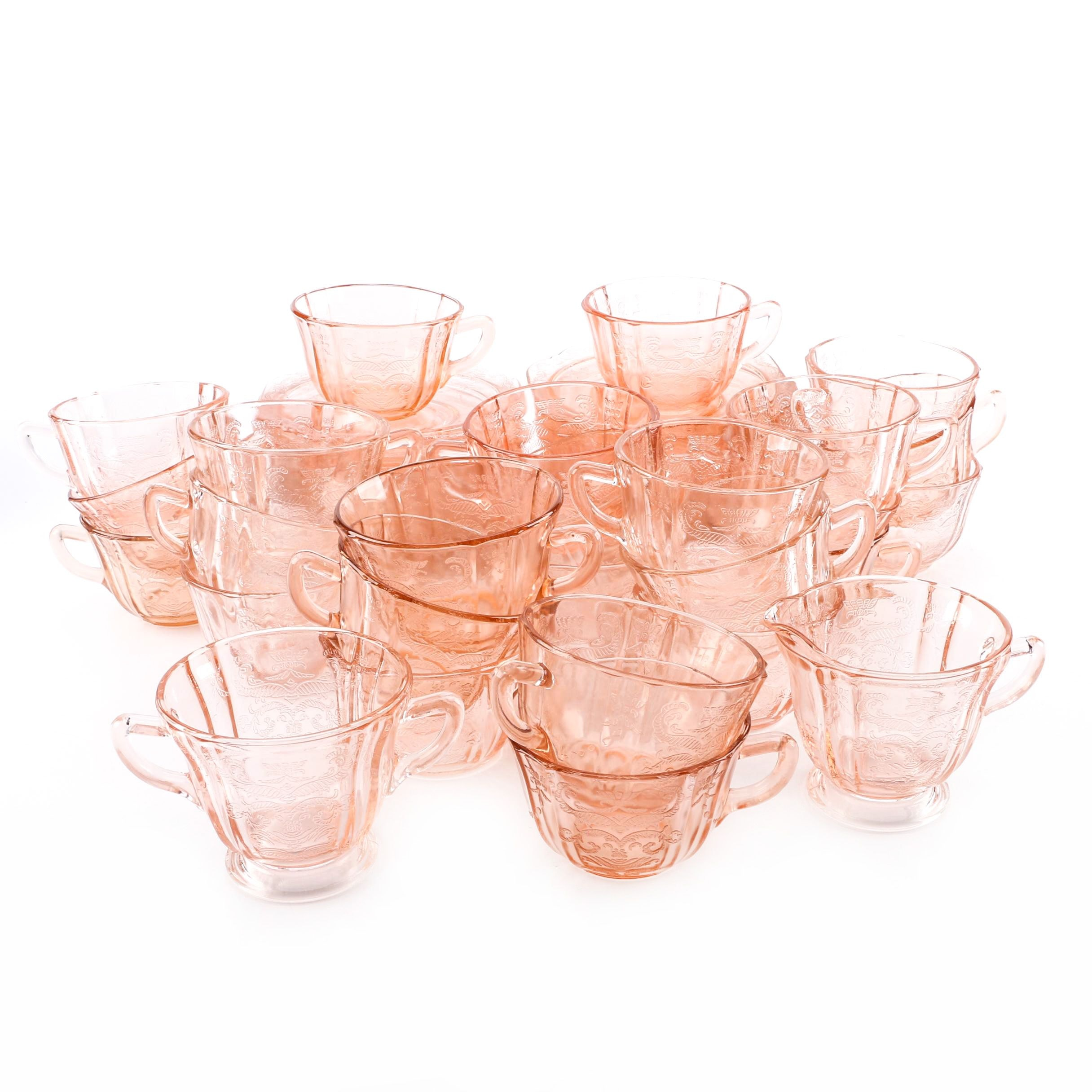 """Indiana Glass """"Recollections Pink"""" Depression Glass Tableware"""